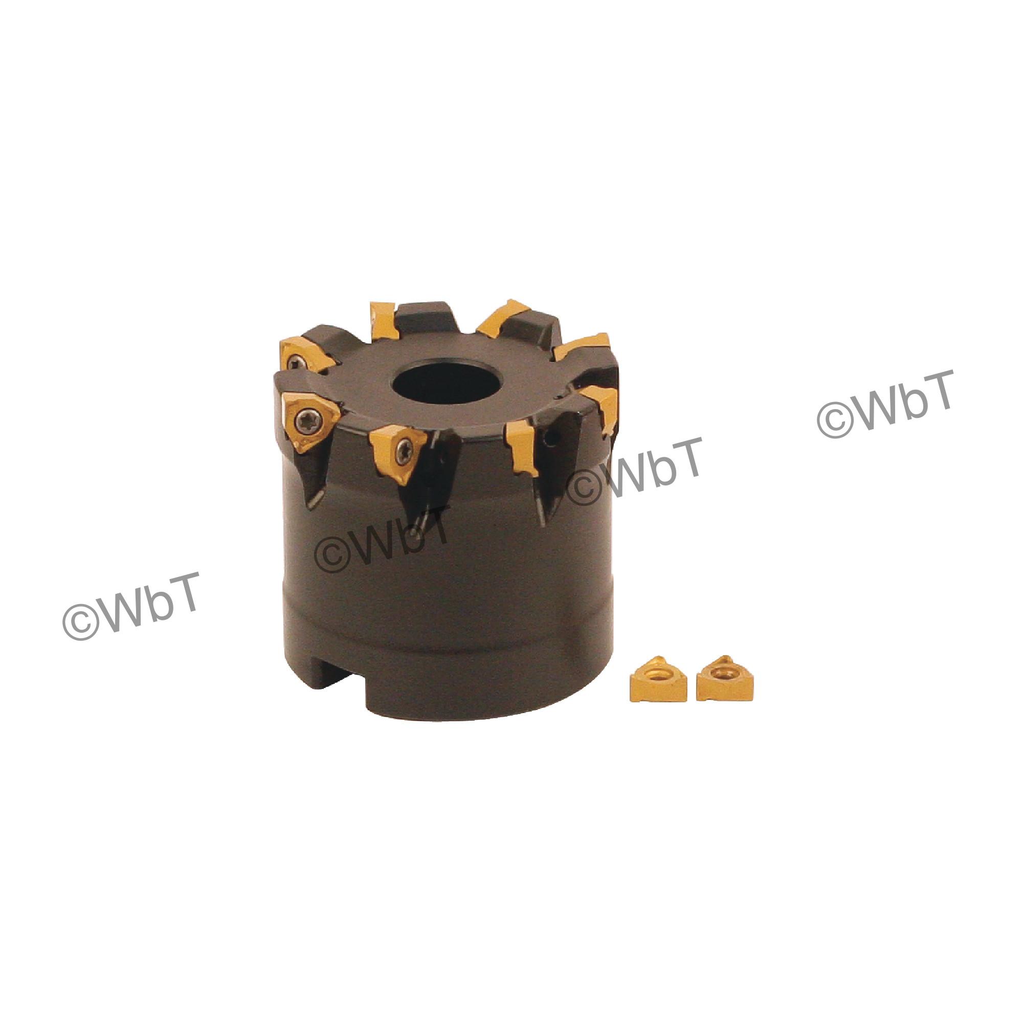 """AKUMA - 2.000"""" Face Mill Set / Includes: (1) XNPC.22.200R-8 (2.0"""" ø) & (10) XNEX221R-M1 CM30P Coated Inserts / Ri"""
