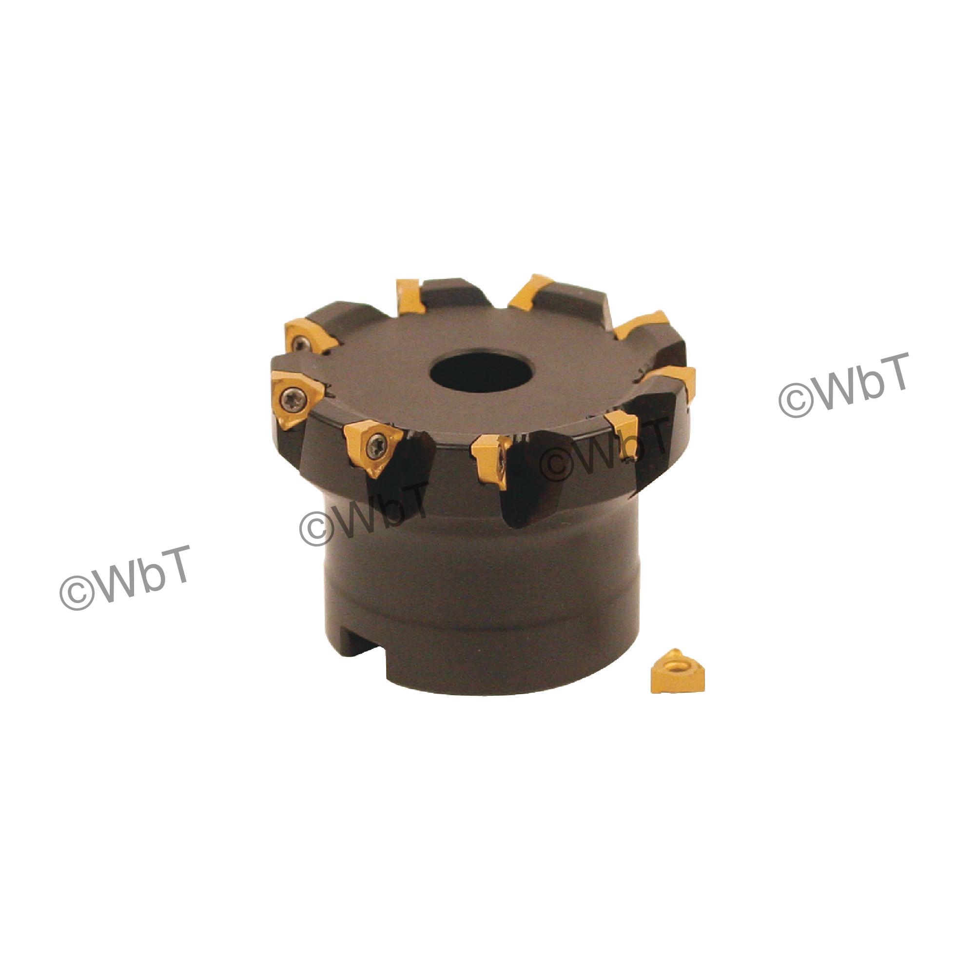 """AKUMA - 2.500"""" Face Mill Set / Includes: (1) XNPC.22.250R-9 (2.5"""" ø) & (10) XNEX221R-M1 CM30P Coated Inserts / Ri"""