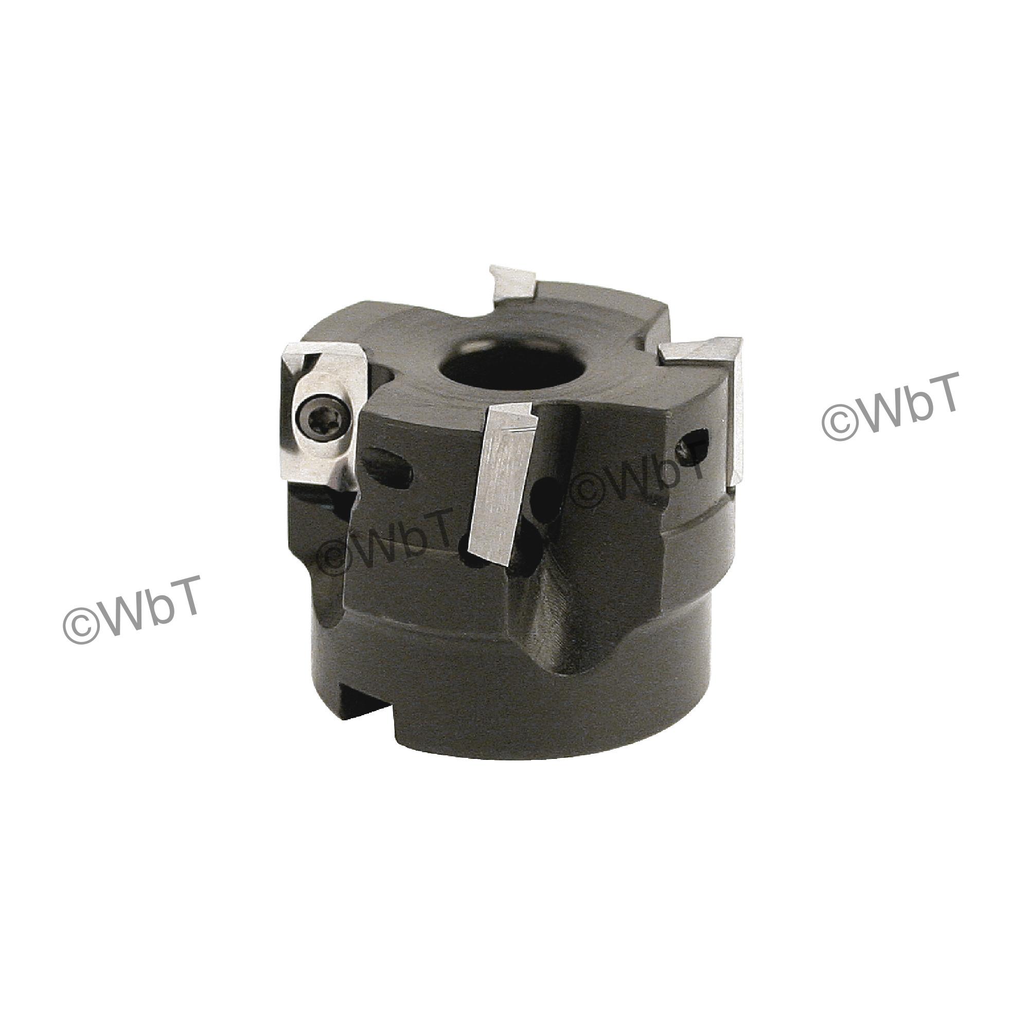 """AKUMA - 2.000"""" Face Mill Set / Includes: (1) APPC.16.200R-4 (2.0"""" ø) & (10) APHT1604PDFR-N1 JM10N Polished Insert"""