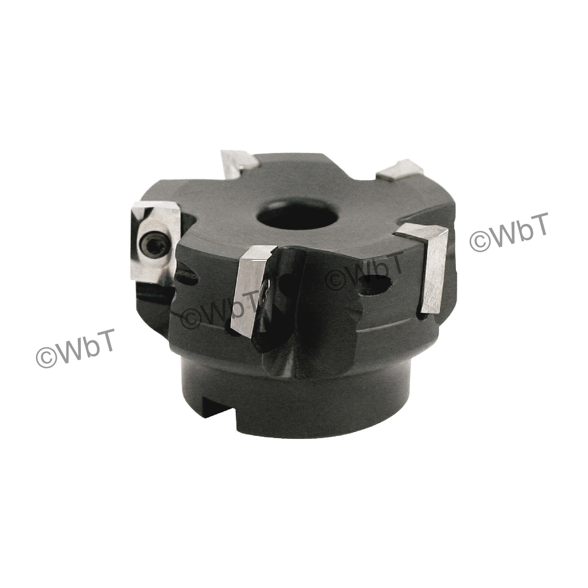 """AKUMA - 2.500"""" Face Mill Set / Includes: (1) APPC.16.250R-6 (2.5"""" ø) & (10) APHT1604PDFR-N1 JM10N Polished Insert"""
