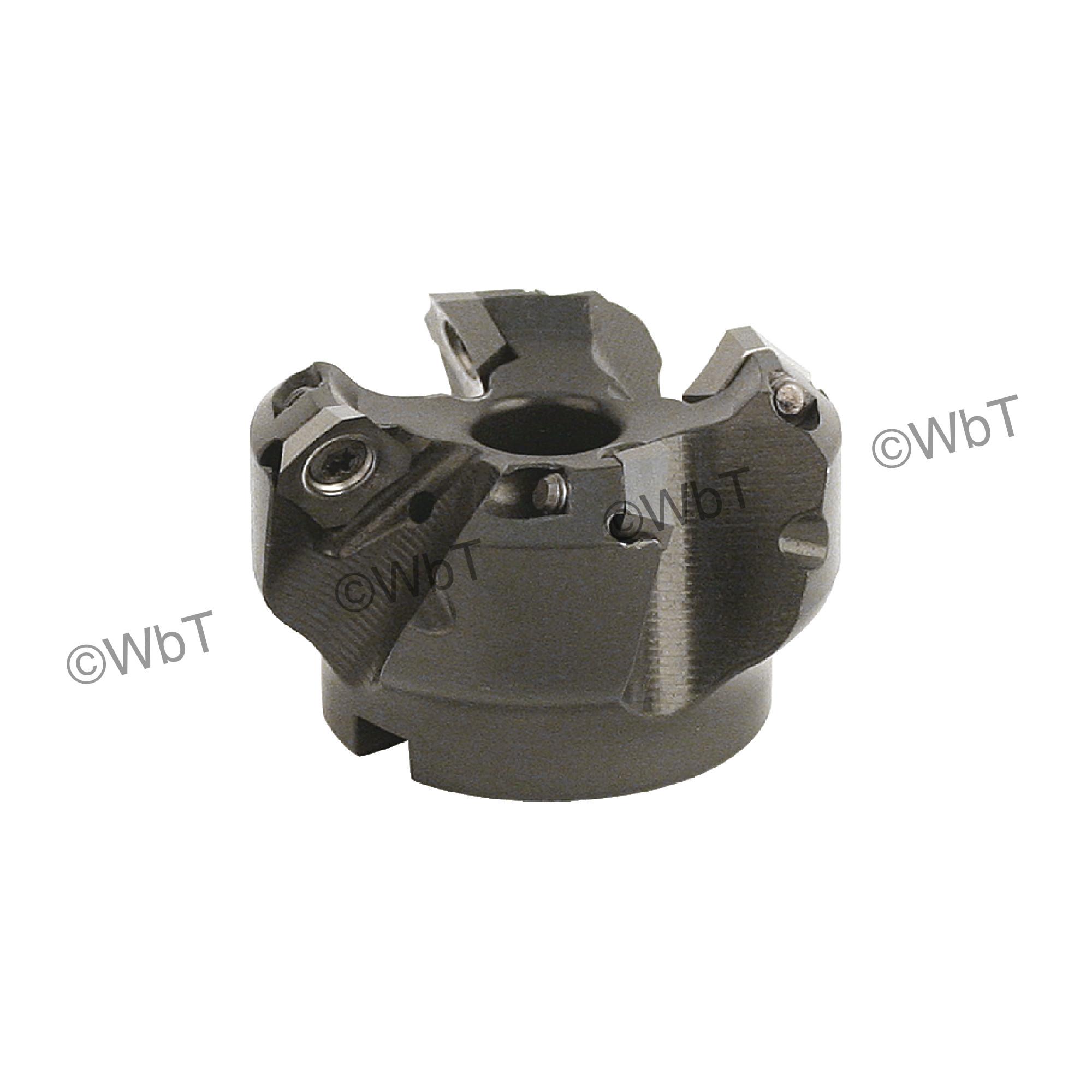 "AKUMA - 2.000"" - 45° Face Mill Set / Includes: (1) SEAC.43.200R-4 (2.0"" ø) & (10) SEHT43AFFN-N1 JM10N Polish"