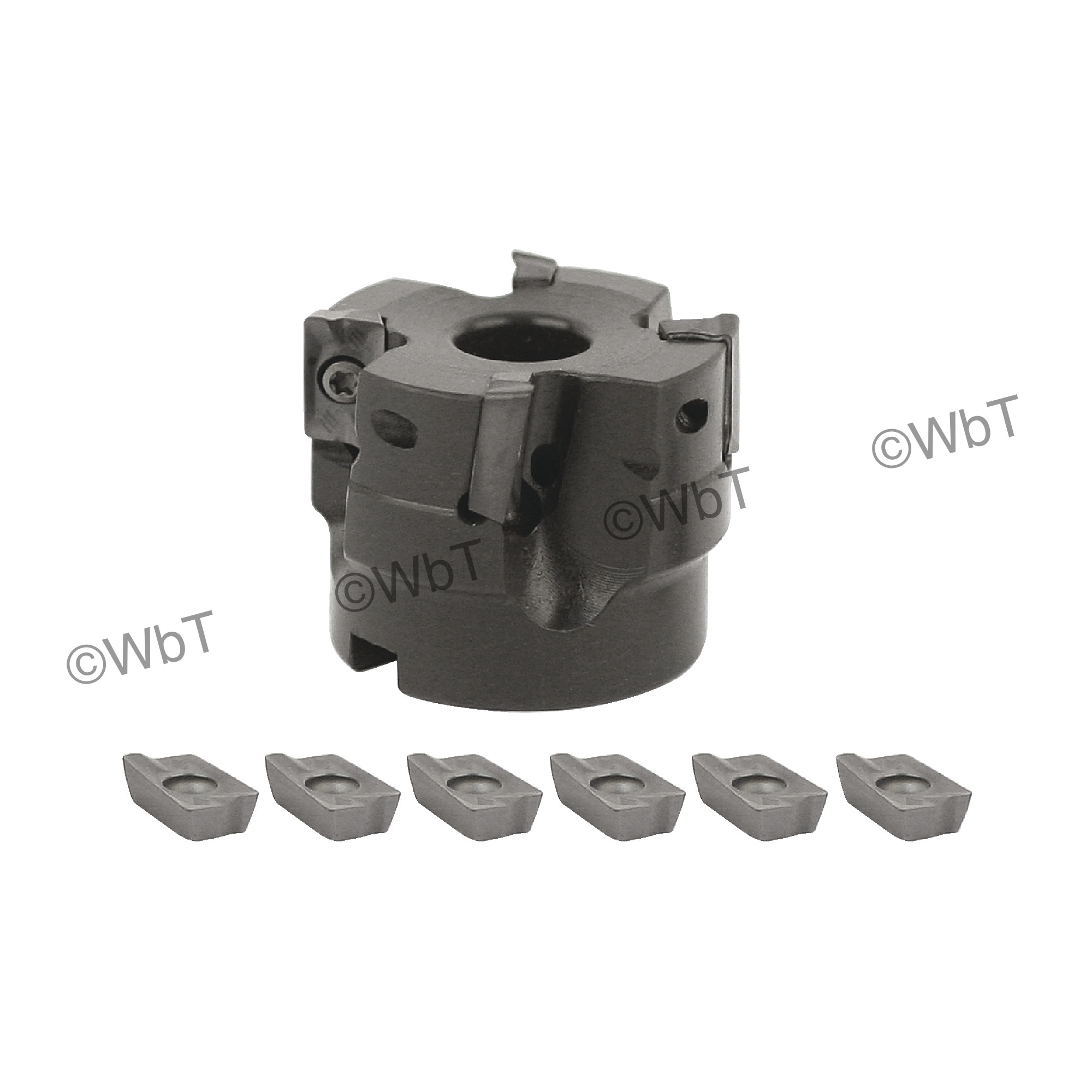 """AKUMA - 2.000"""" Face Mill Set / Includes: (1) APPC.16.200R-4 (2.0"""" ø) & (10) APKT1604PDR-M1 PM20M Coated Inserts /"""