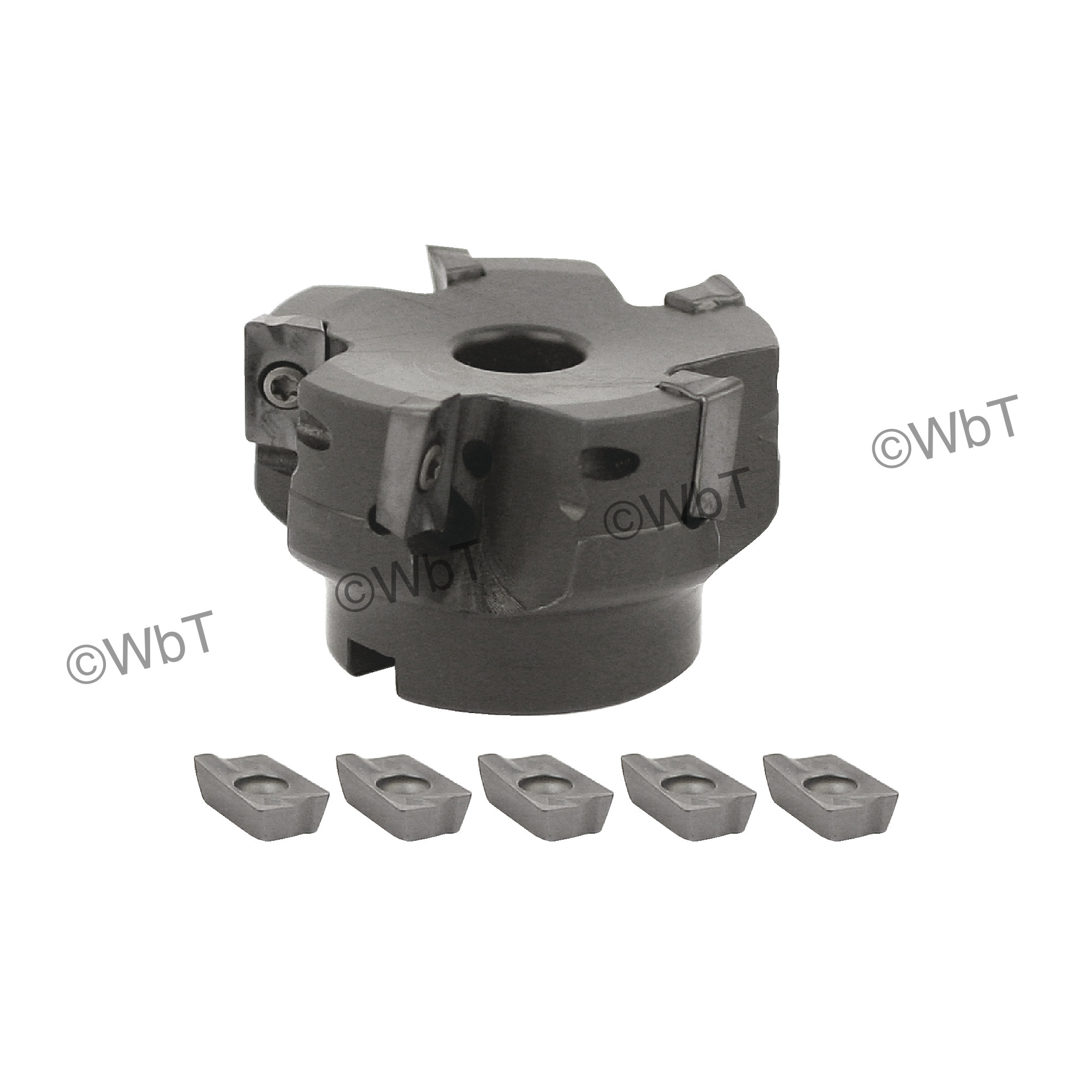 """AKUMA - 2.500"""" Face Mill Set / Includes: (1) APPC.16.250R-6 (2.5"""" ø) & (10) APKT1604PDR-M1 PM20M Coated Inserts /"""