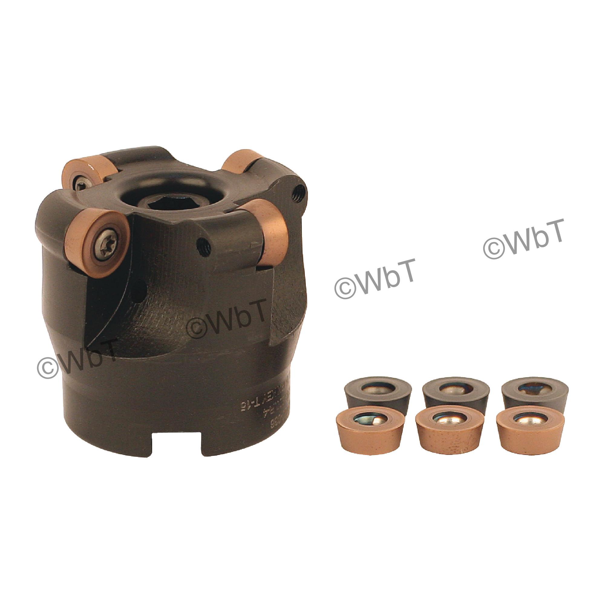 "AKUMA - 2.000"" Face Mill Set / Includes: (1) RPC.43.200R-4 (2.0""ø) & (10) RPMT1204M0S-M1 PM15M Coated Inserts / R"