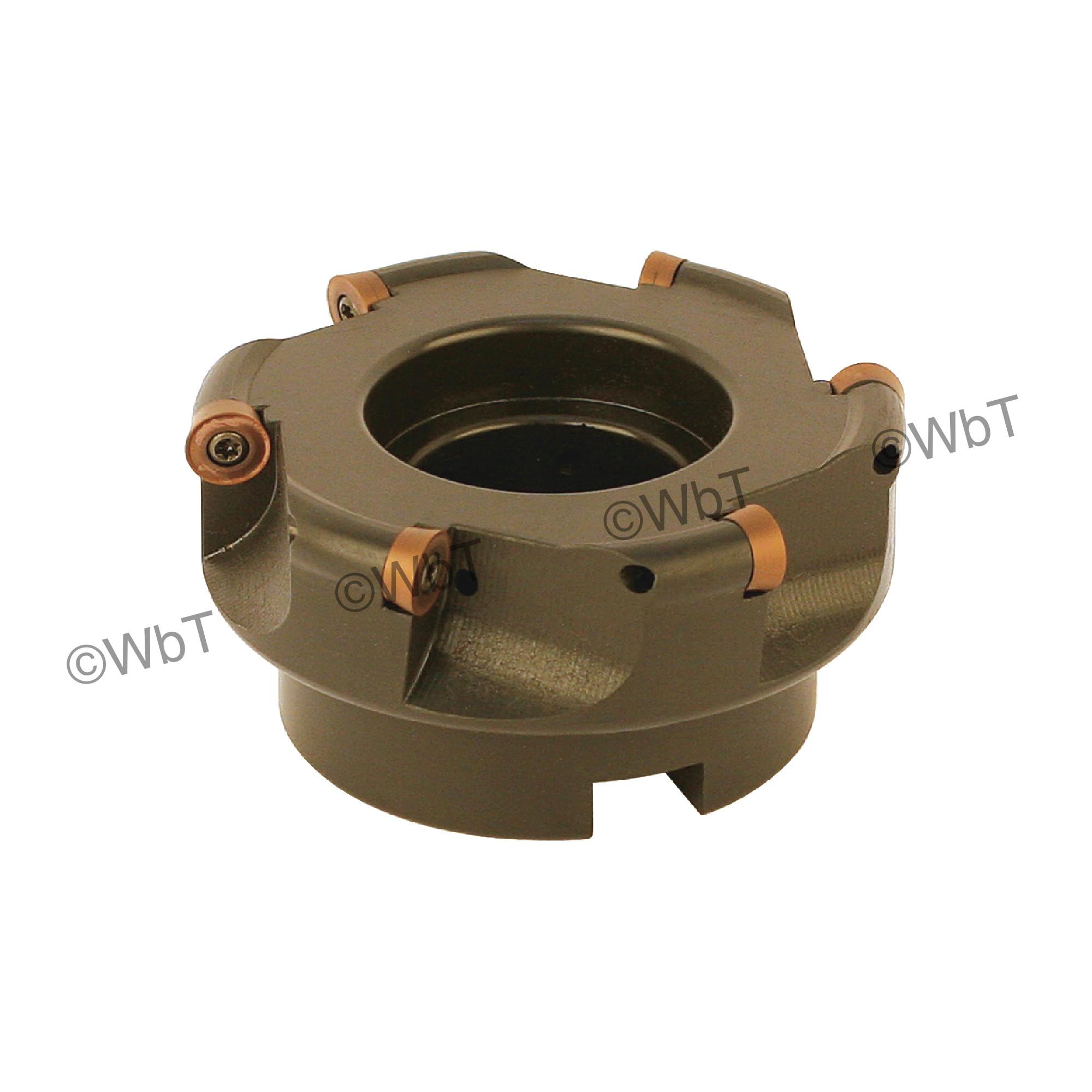 "AKUMA - 4.000"" Face Mill Set / Includes: (1) RPC.43.400R-6 (4.0""ø) & (10) RPMT1204M0S-M1 PM15M Coated Inserts / R"
