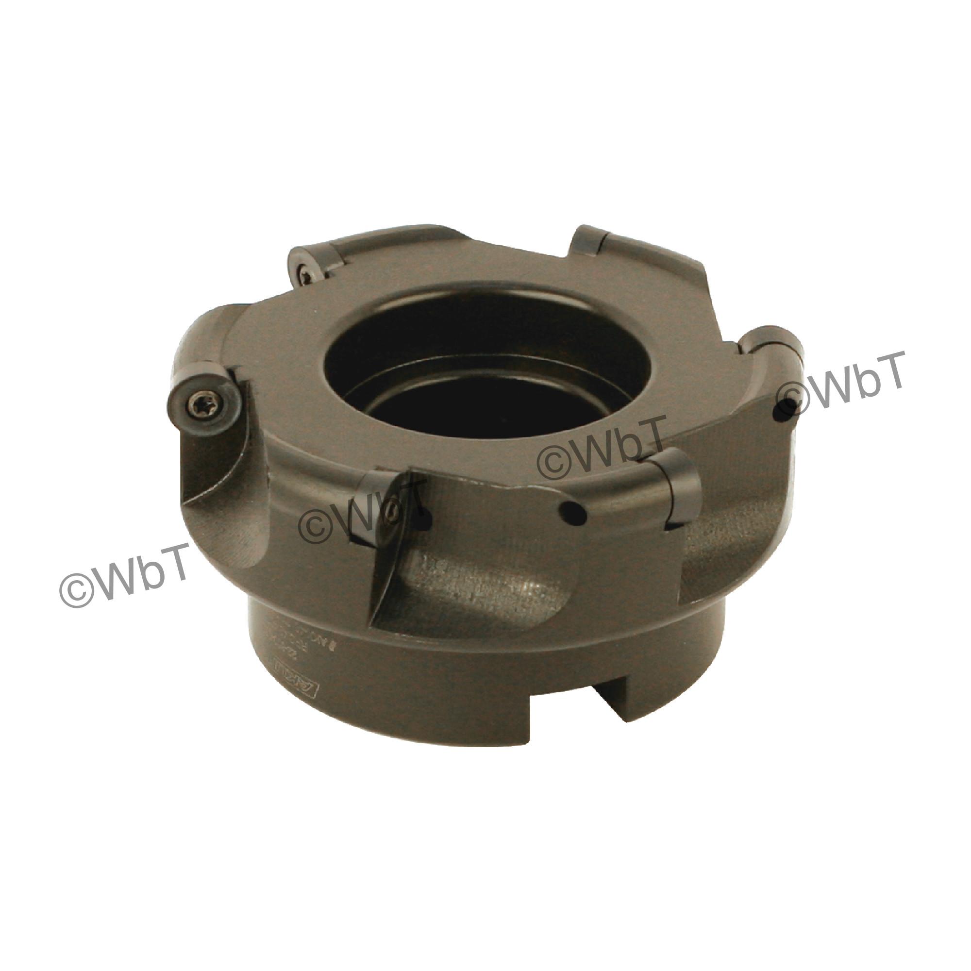 "AKUMA - 4.000"" Face Mill Set / Includes: (1) RPC.43.400R-6 (4.0""ø) & (10) RPMT1204M0S-M1 PM20M Coated Inserts / R"