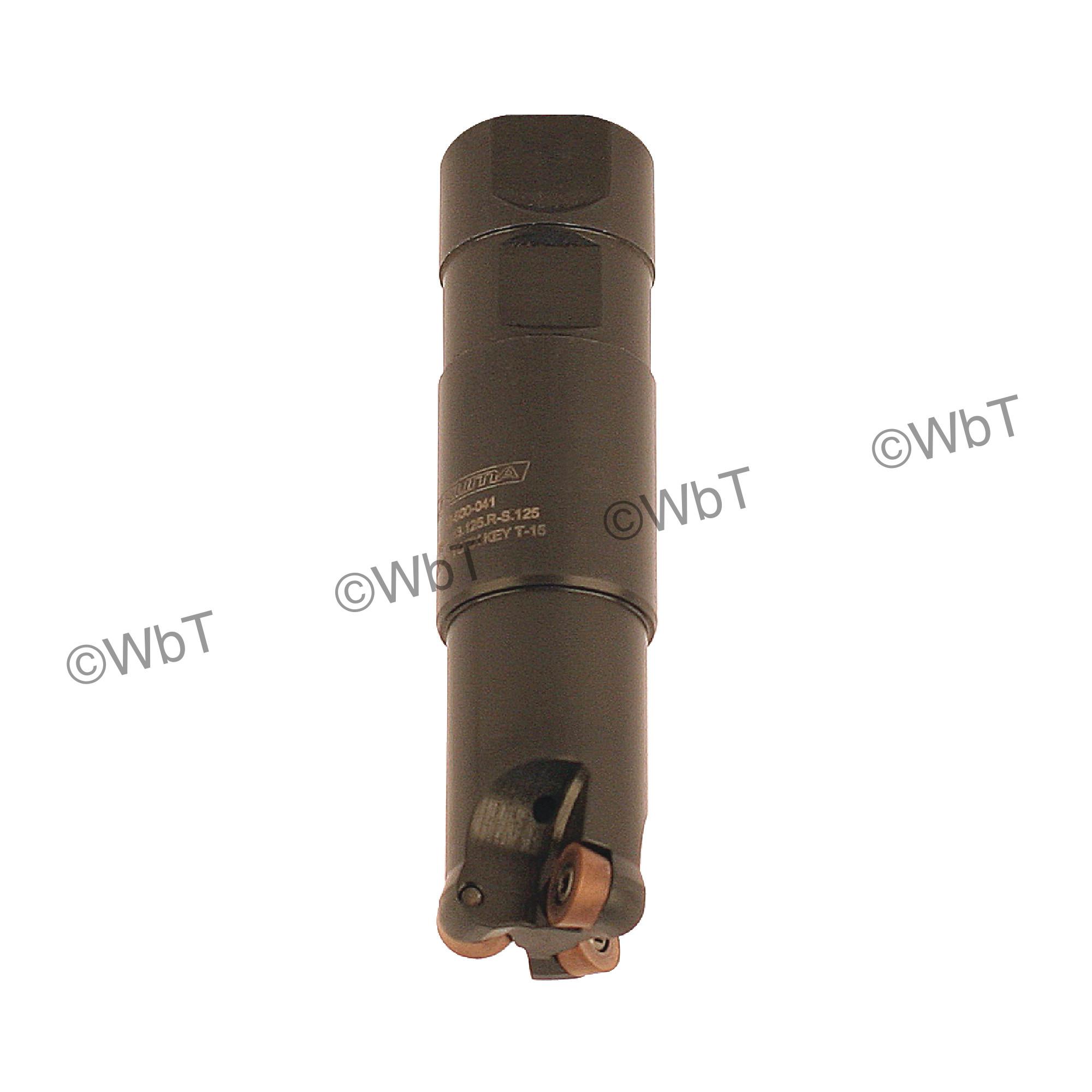 "AKUMA - 1.250"" Endmill Set / Includes: (1) RPS.43.125.R-S.125 (1.25""ø) & (10) RPMT1204M0S-M1 PM15M Coated Inserts"
