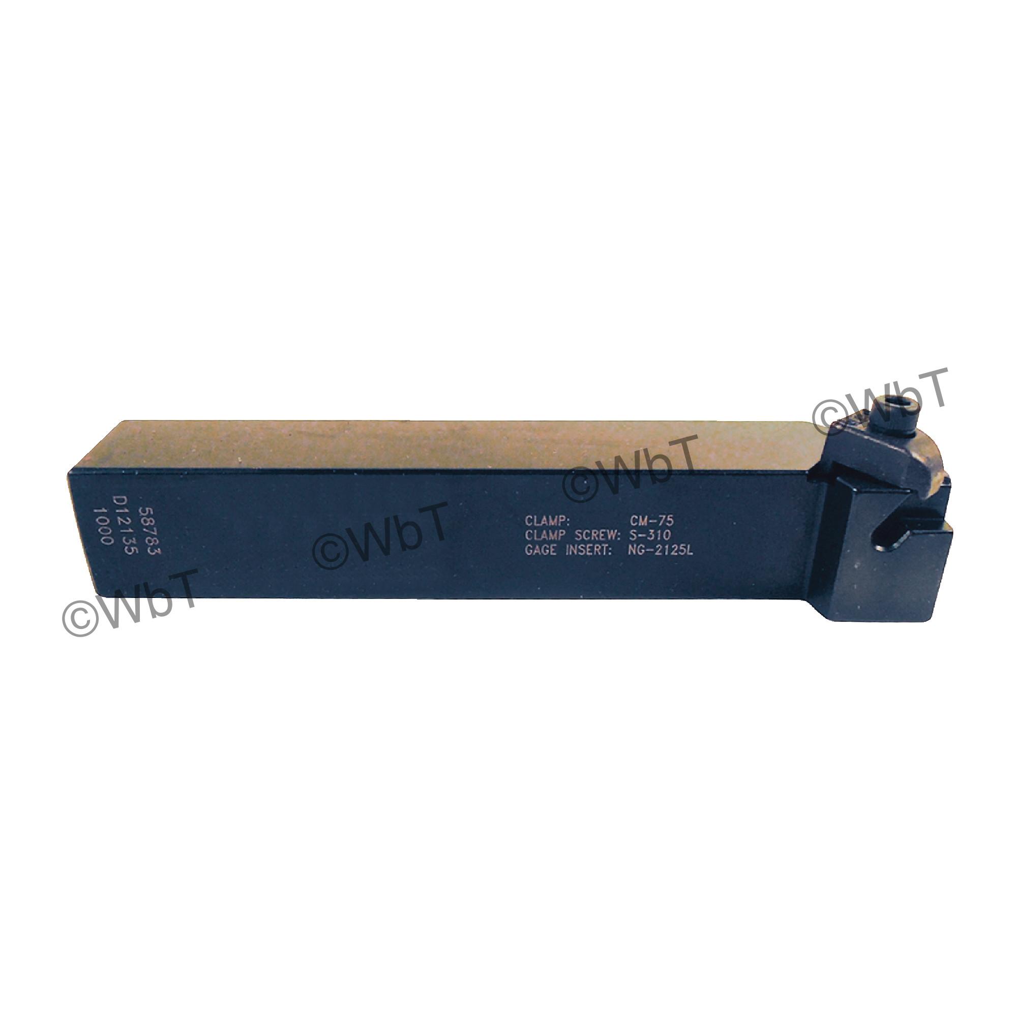 "TTC PRODUCTION - TNSL12-2B / 0.750"" Shank External Holder / Size 2 Insert / Left Hand"