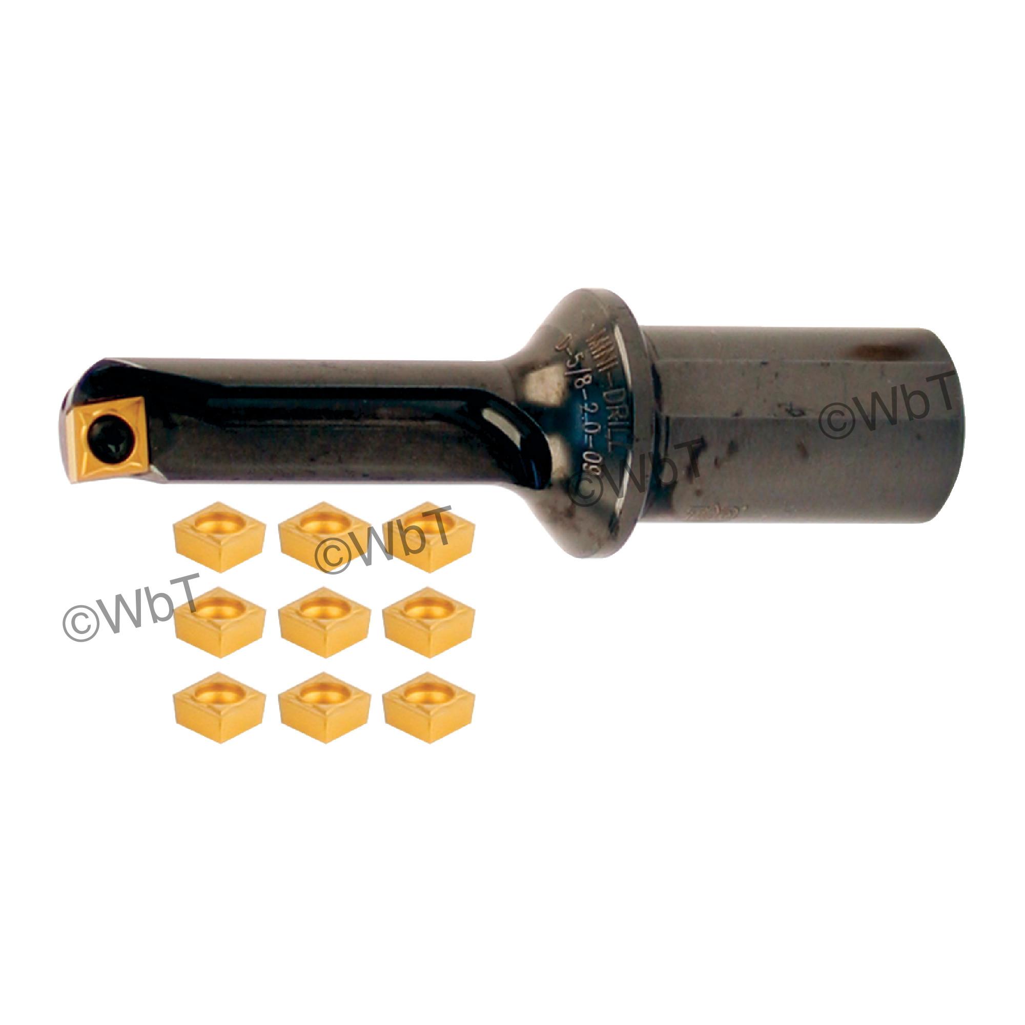 "T&O - D-1/2-1.2-06 SET - Multi Tool Set / (1) 1/2"" MULTI-TOOL (1/2""ø) & (10) CCMT2(1.5)1 Coated Inserts / 1.200"""