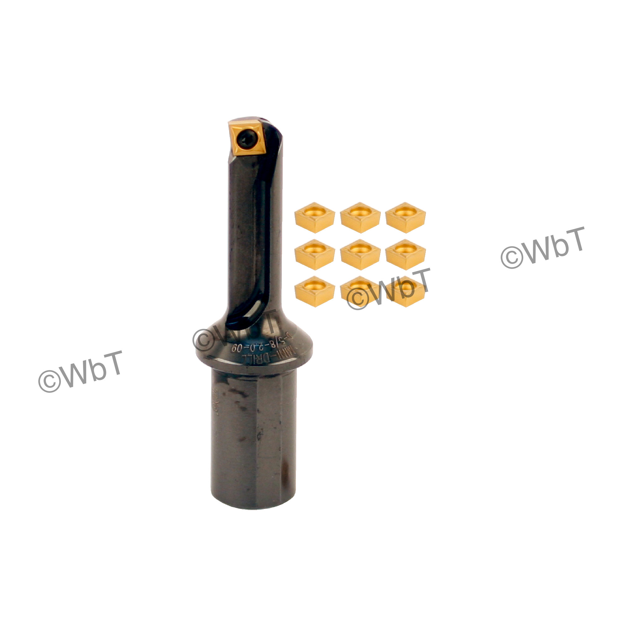 "T&O - D-5/8-2.0-09 SET - Multi Tool Set / (1) 5/8"" MULTI-TOOL (5/8""ø) & (10) CCMT3(2.5)1 Coated Inserts / 2.000"""