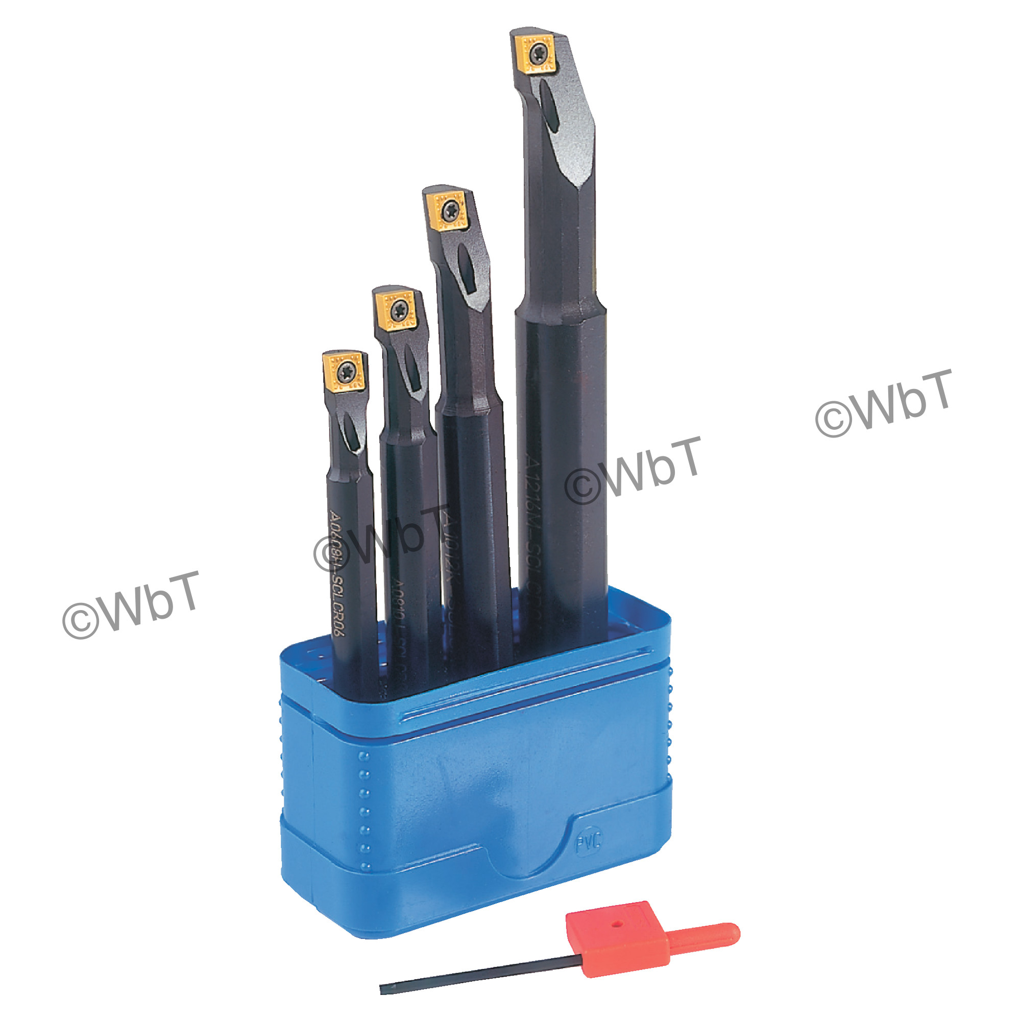 """T&O - A-SCLCR-2 SET-A Steel / Boring Bar Set (5/16"""", 3/8"""", 1/2"""", & 5/8"""") CCMT2(1.5)_ Inserts / Right Hand"""
