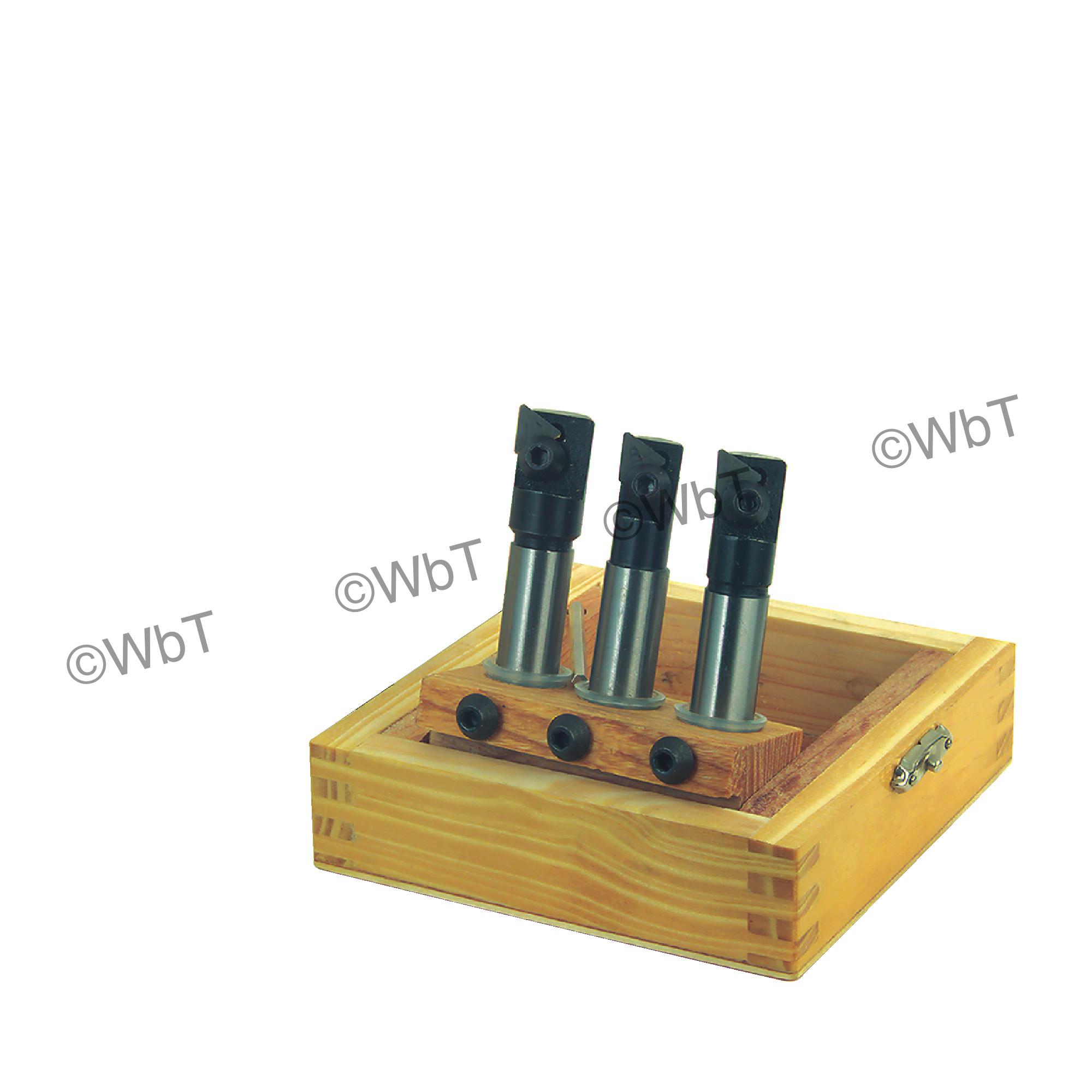"TTC PRODUCTION - TriDex Milling Set with Inserts (1/2""ø, 9/16""ø, & 5/8""ø) & (10) TPU221 C5 Uncoated"