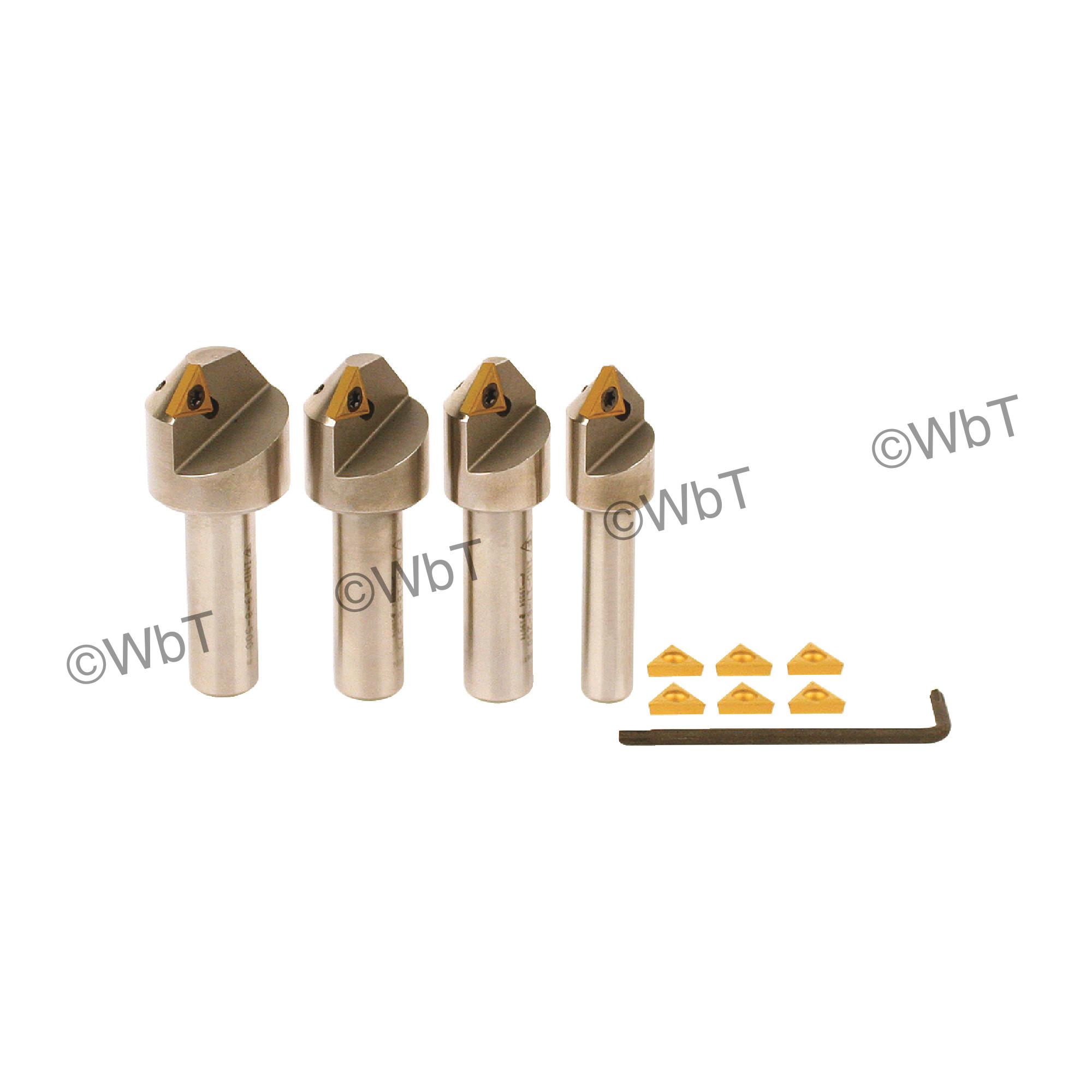 EVEREDE - Set 82 - 82° 4 Piece Countersink Set / (10) TPGH215 CV6 Coated Inserts