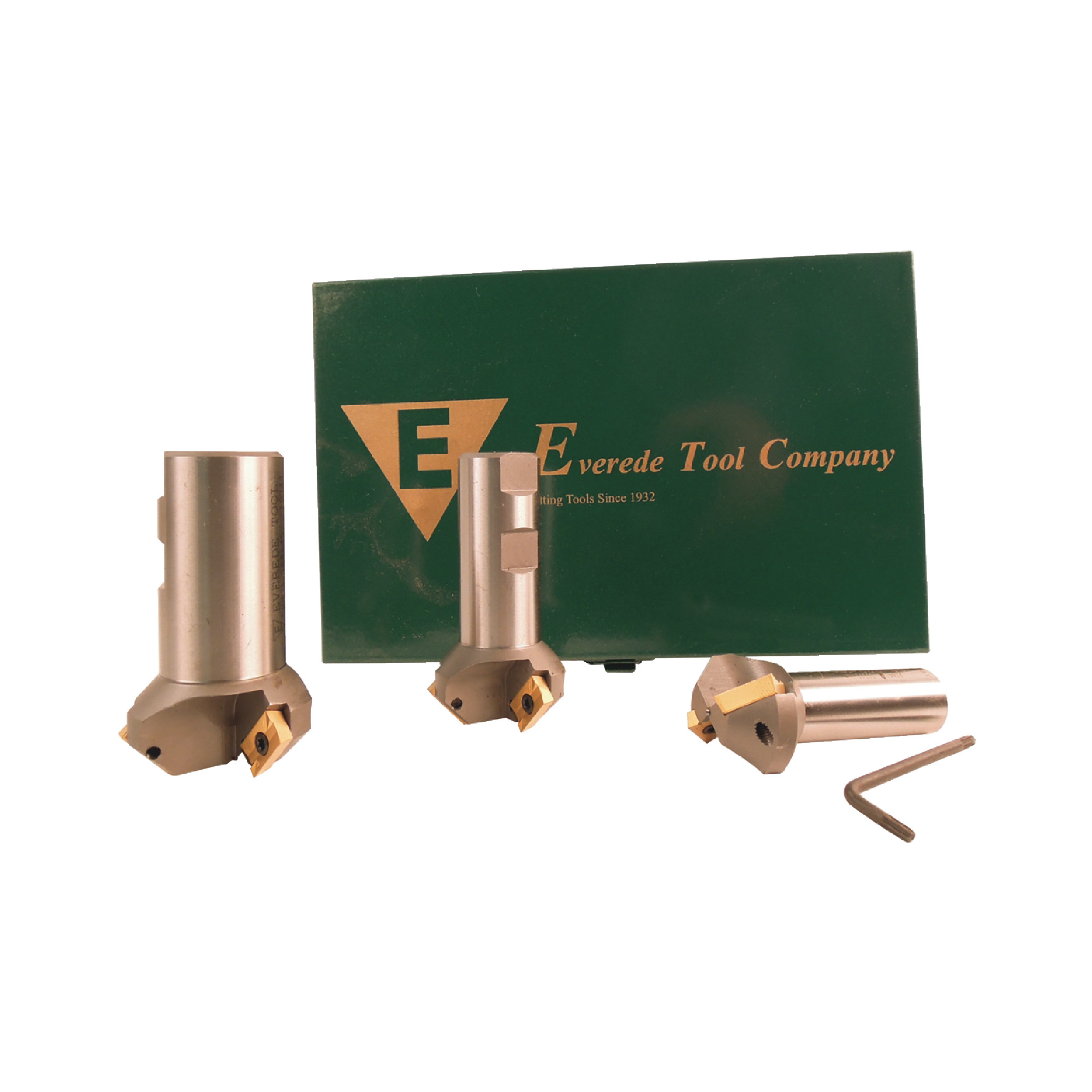 EVEREDE - SET CHM-45 - 45° 3 Piece Countersink Set/ (10) APLT347 CV6 Coated Inserts