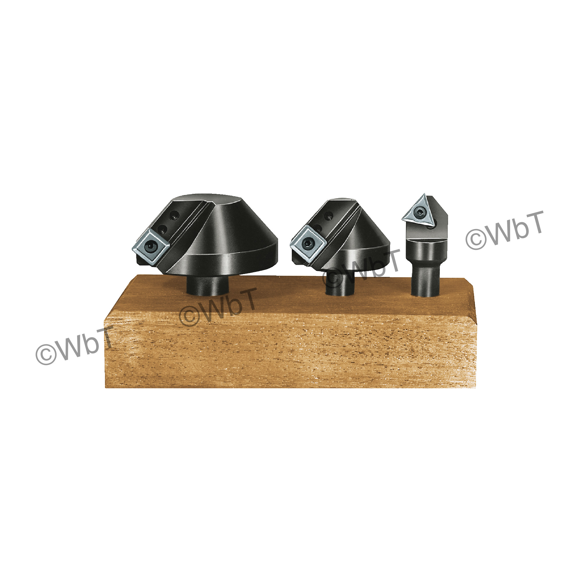APT - CCS60 - 60° 3 Piece Countersink Set / Comes With TPGH321 C6 & SPGH433 C6 Uncoated Inserts loaded