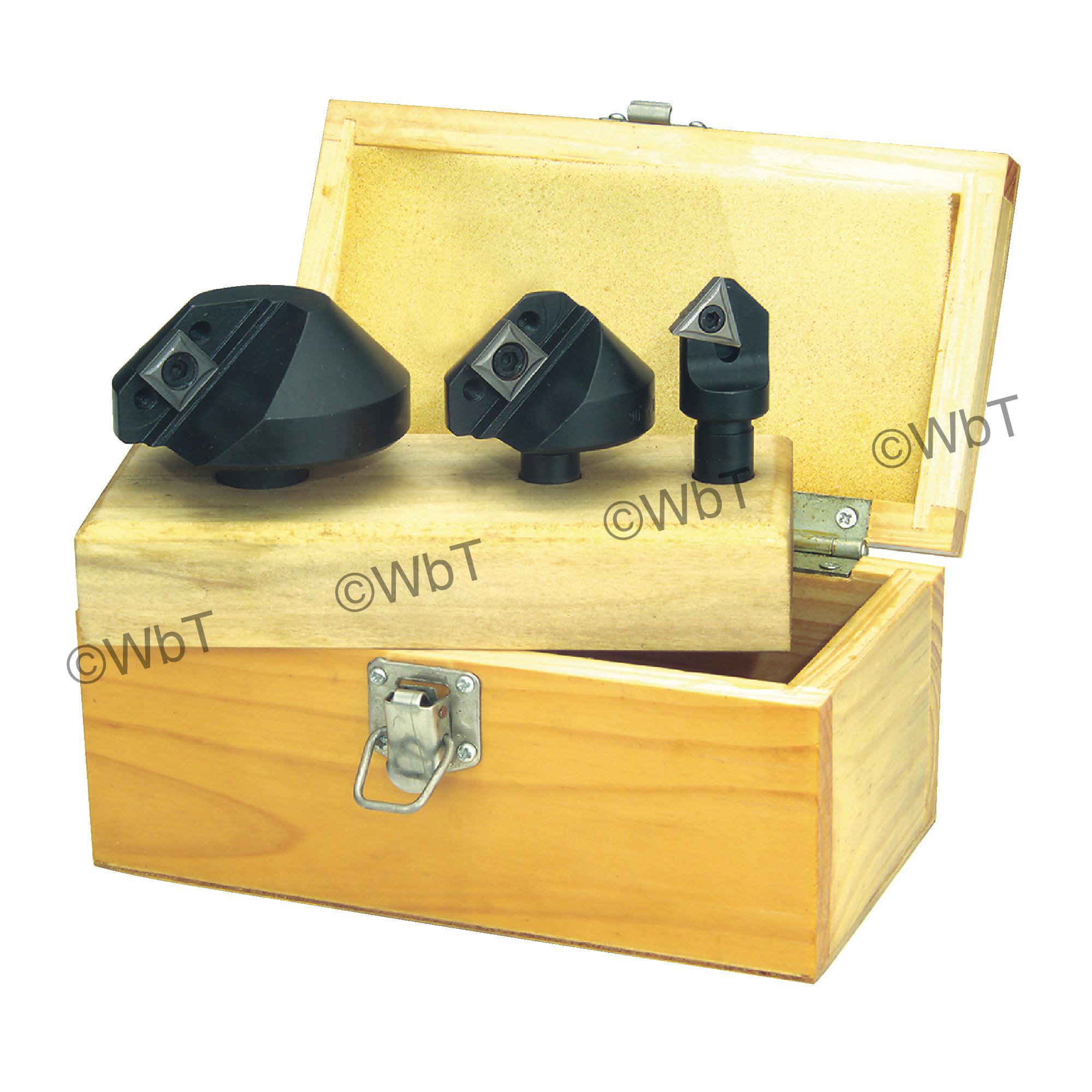 TTC PRODUCTION - 90 SET -  3 Piece 90°Countersink Set
