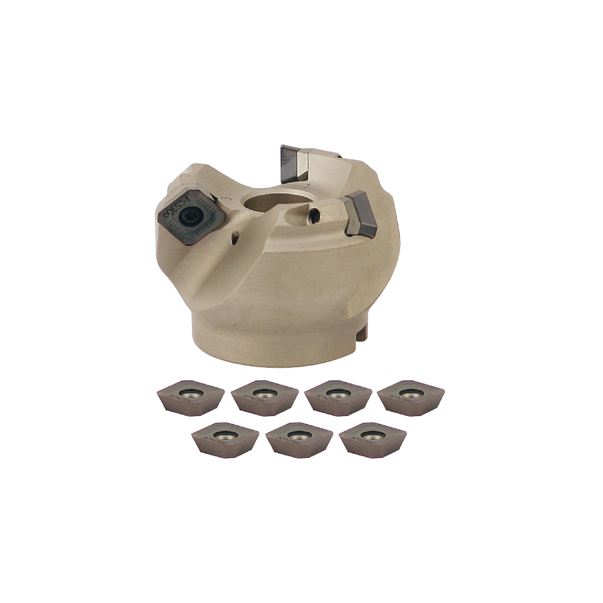 "KORLOY - 2.000"" - 45° Face Mill Set / Includes: (1) FMACA4200HR (2.0"" ø) & (10) SEXT14M4AGSN-MM PC5300 Coate"
