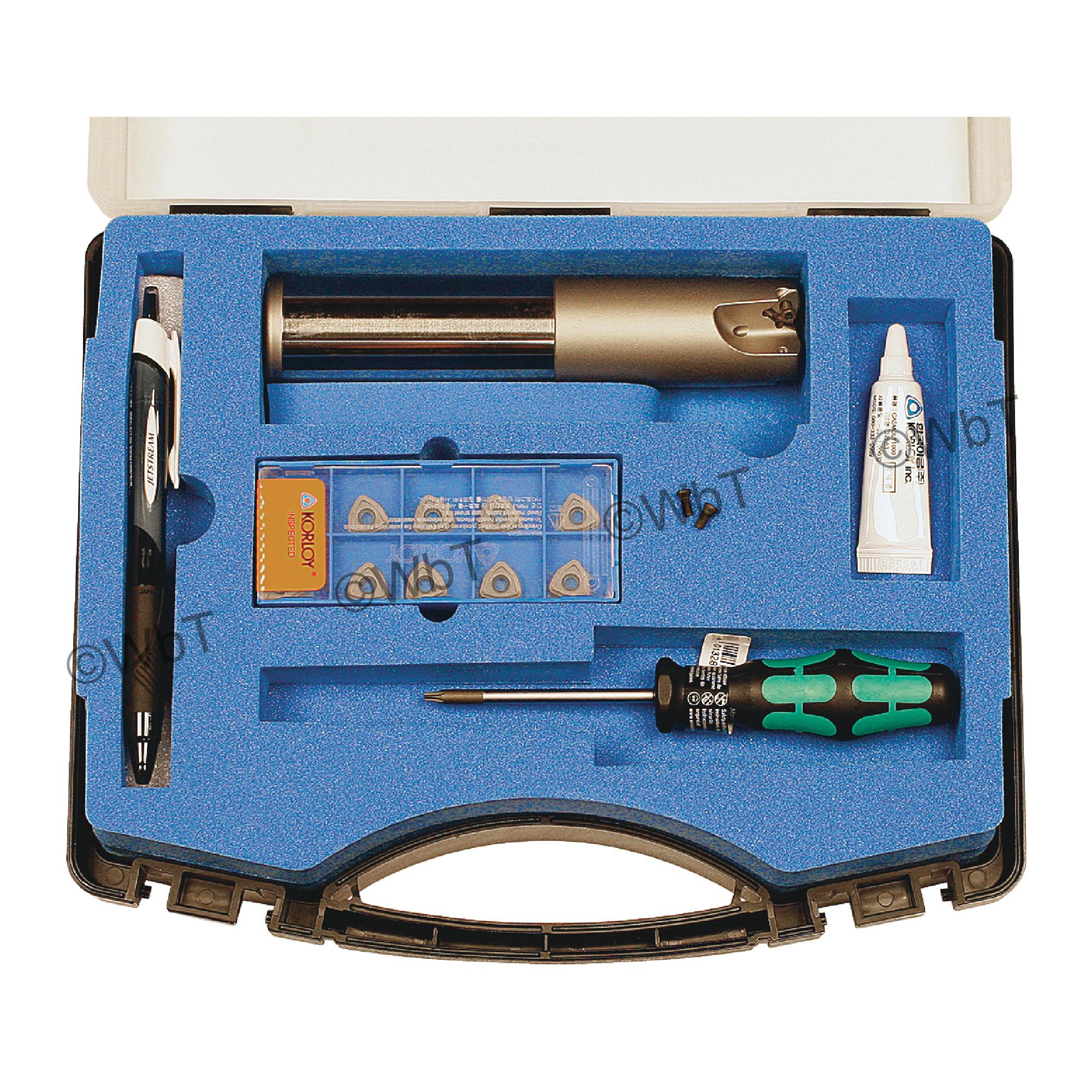"KORLOY - 1.250"" High-Feed End Mill Set / Includes: (1) HRMDSA09125HR-3S125 (1.25"" ø) & (10) WNMX09T316ZNN-MM PC53"
