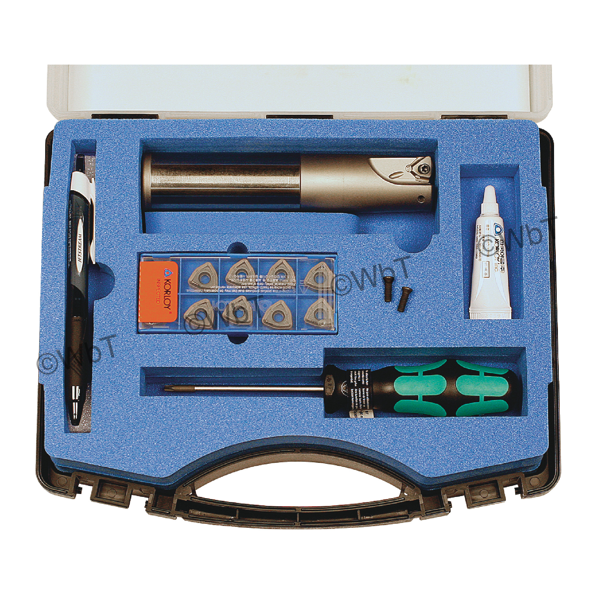 "KORLOY - 1.250"" High-Feed End Mill Set / Includes: (1) HRMDSA13125HR-2S125 (1.25"" ø) & (10) WNMX130520ZNN-MM PC53"