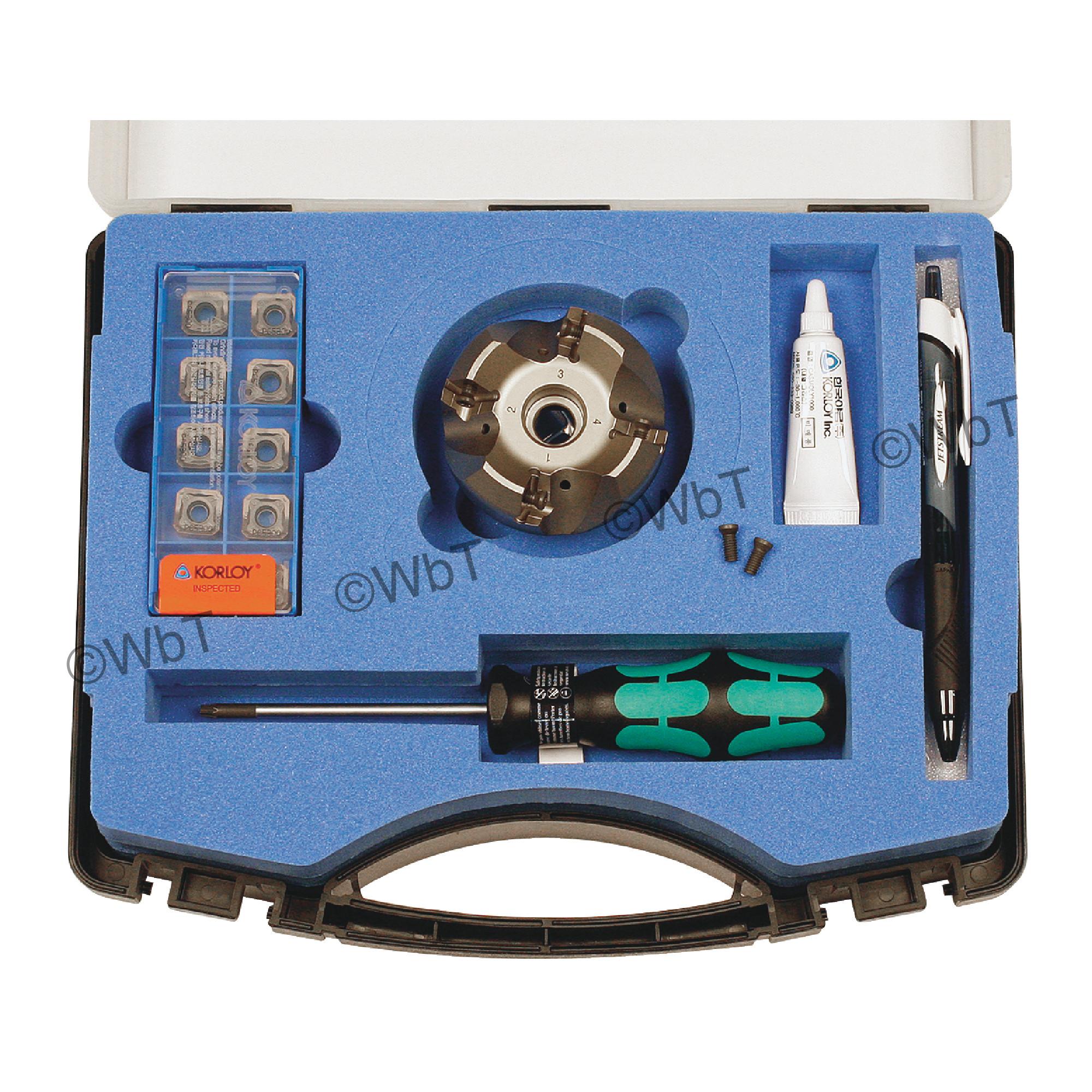 "KORLOY - 2.000"" - 45° Face Mill Set / Includes: (1) RM8ACA4200HR-M (2.0"" ø) & (10) SNMX1206ANN-MM PC5300 Coa"