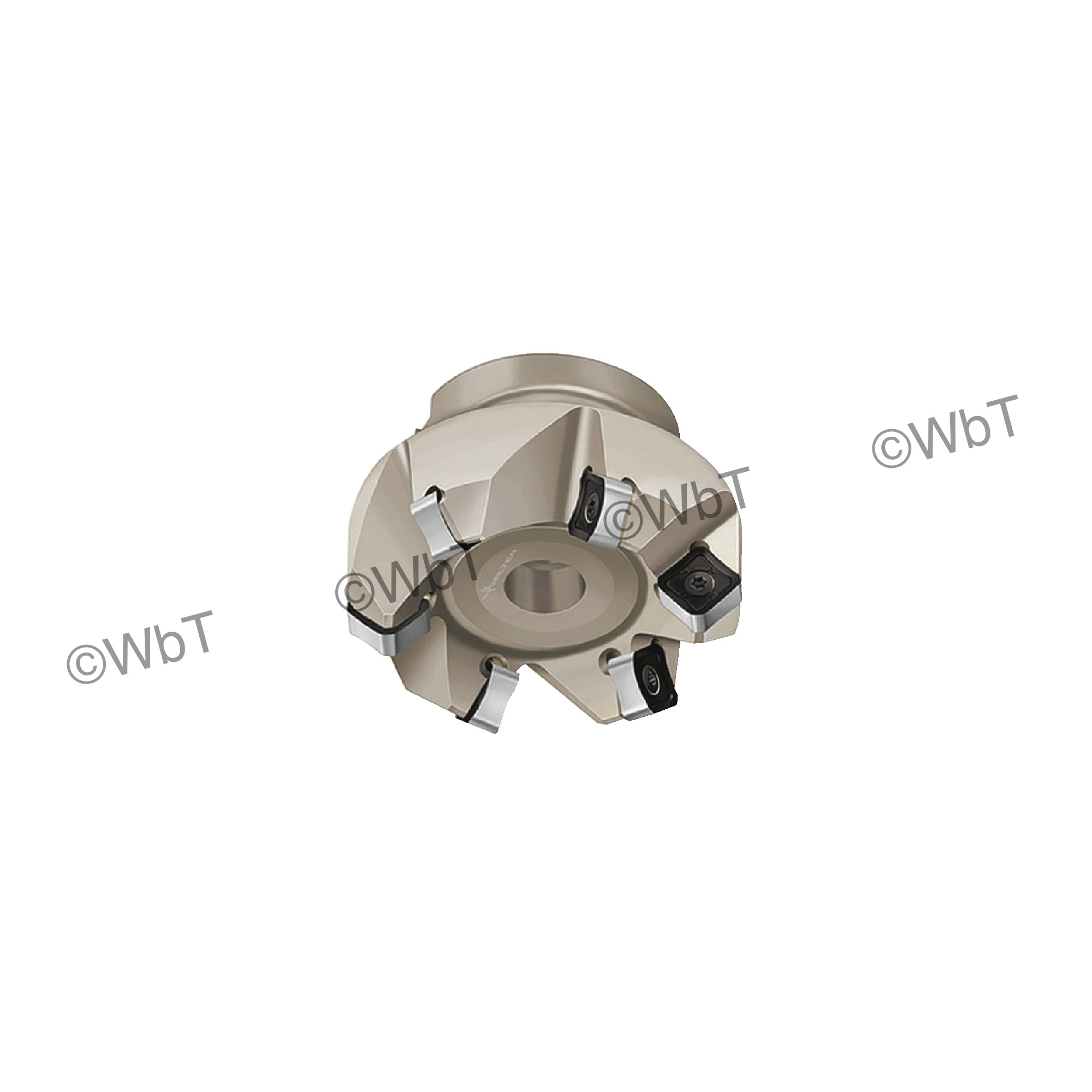 """WALTER VALENITE - F4033.UB.051.Z04.06 / 2.000"""" 45° Face Mill for SNMX1205 Inserts / Right Hand"""