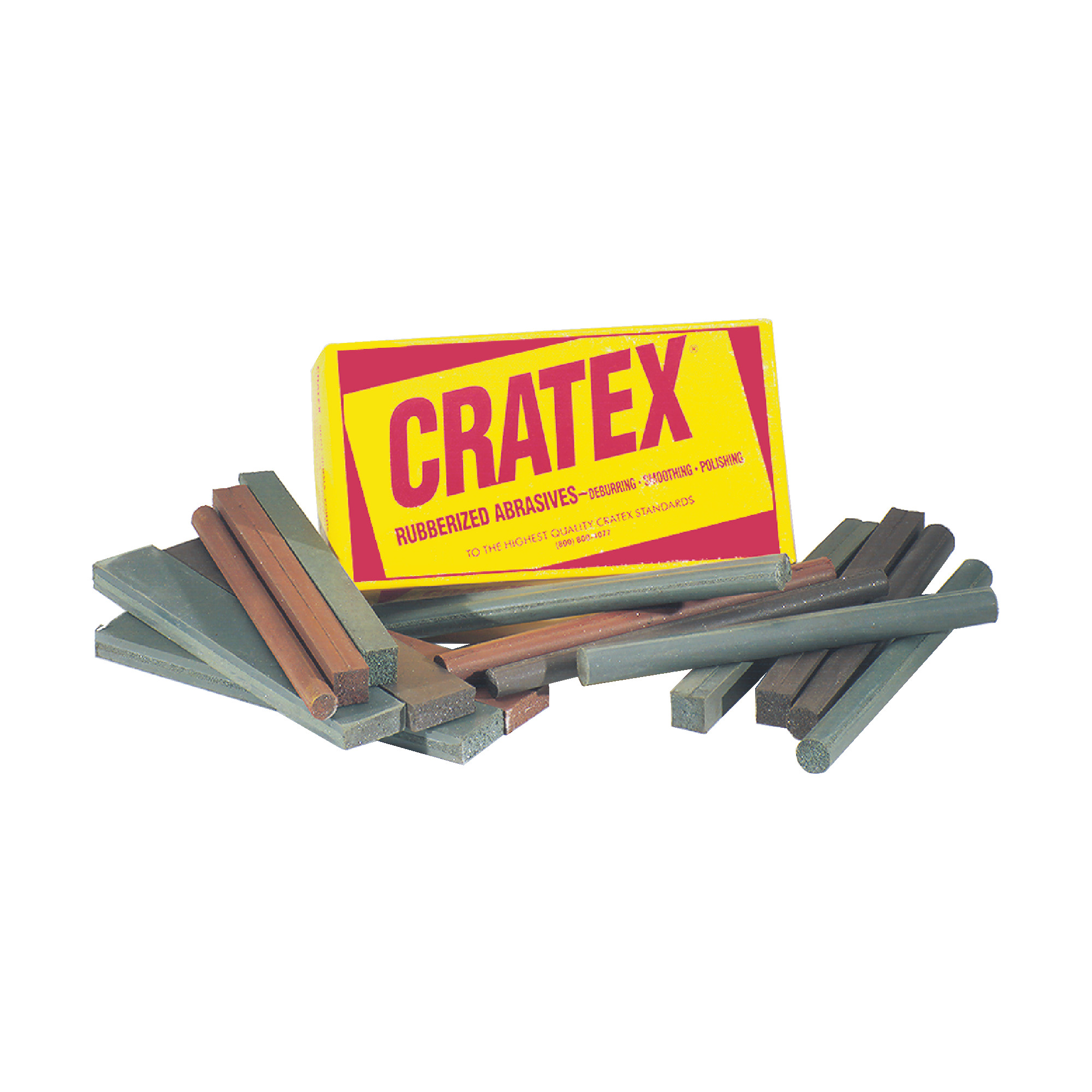 Rubberized Abrasive Block & Stick Test Set