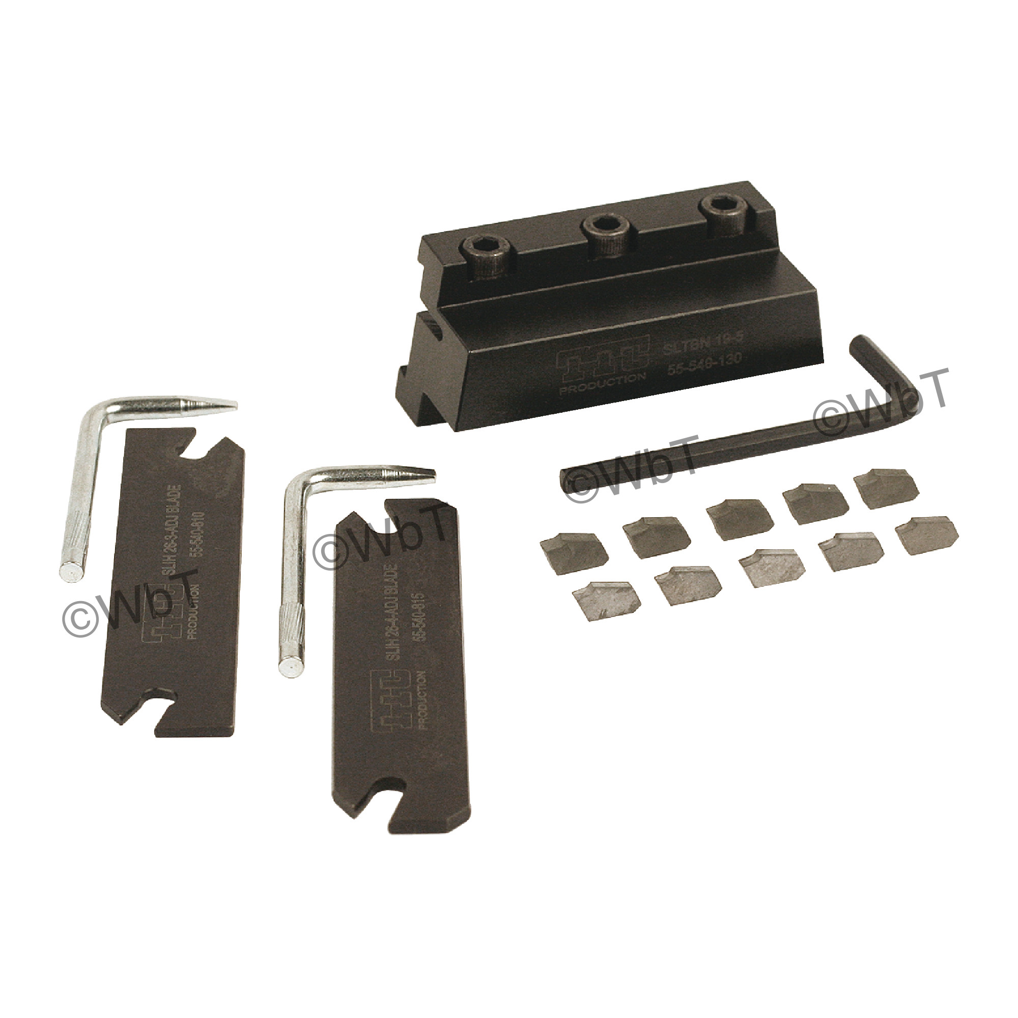 """TTC PRODUCTION - SCOT-15 Blade Block Set / 3/4"""" X 3/4"""" Shank / For 1.0"""" (26mm) Height Blades / With (5) GTN-3 C6 Uncoate"""