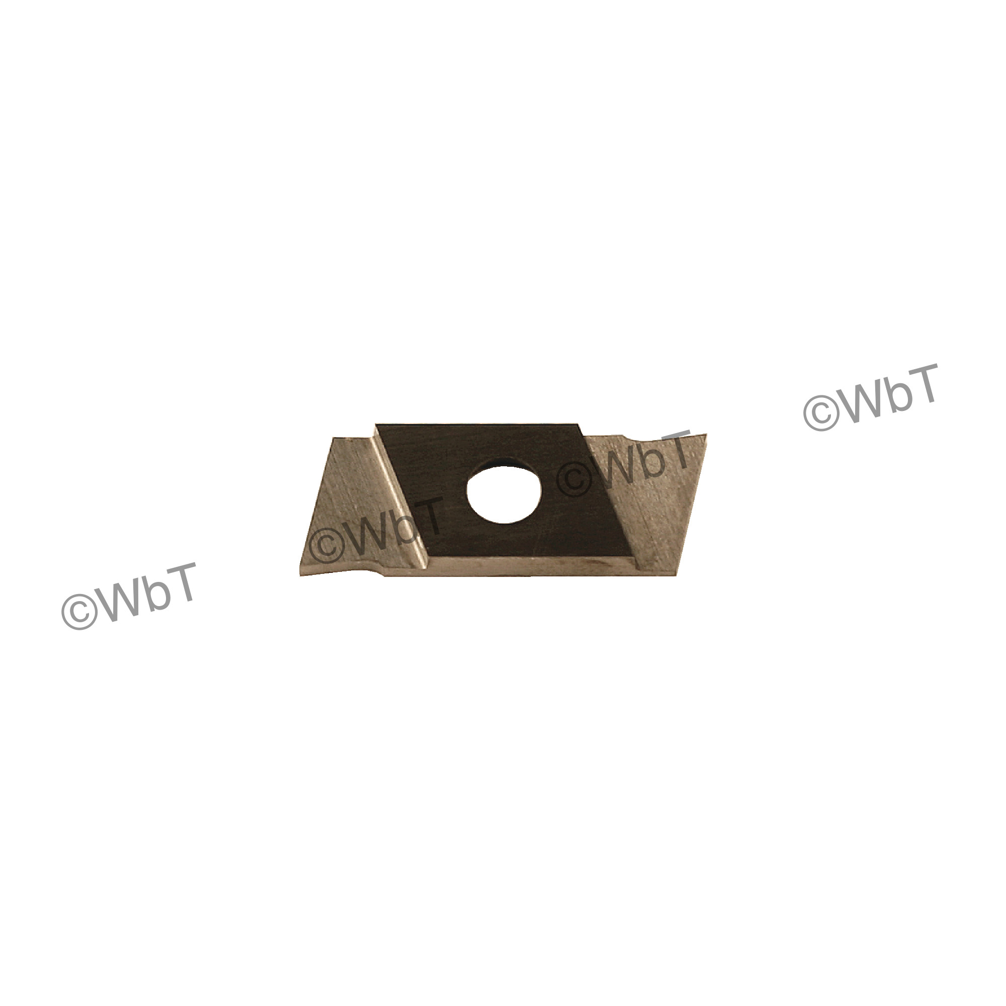 """NIKCOLE - GIE-7-GP-1.0LL C2 / Indexable Carbide Insert for Grooving / 0.039"""" Cutting Width / Left Hand"""