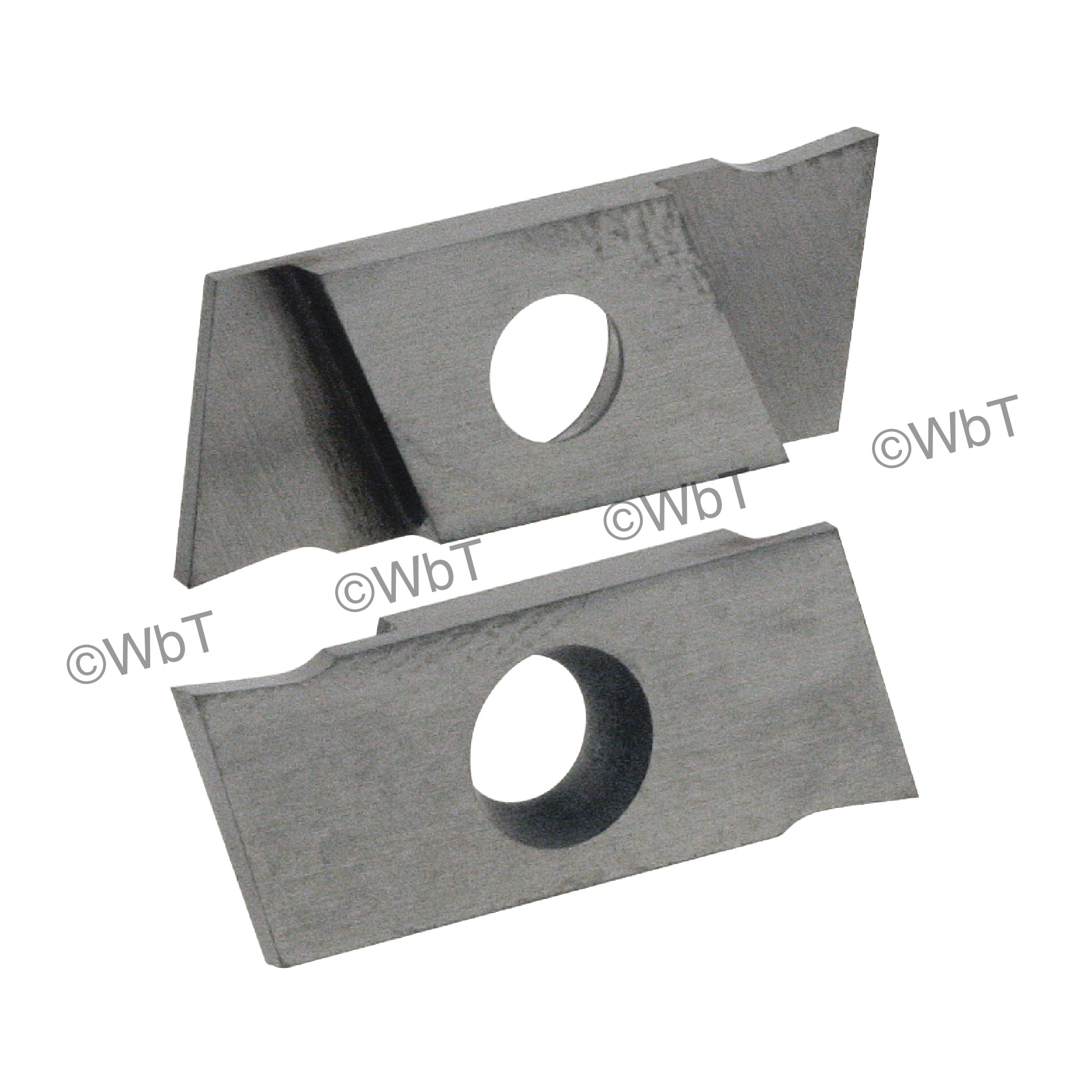 """NIKCOLE - GIE-7-GP-1.0RR C2 / Indexable Carbide Insert for Grooving / 0.039"""" Cutting Width / Right Hand"""