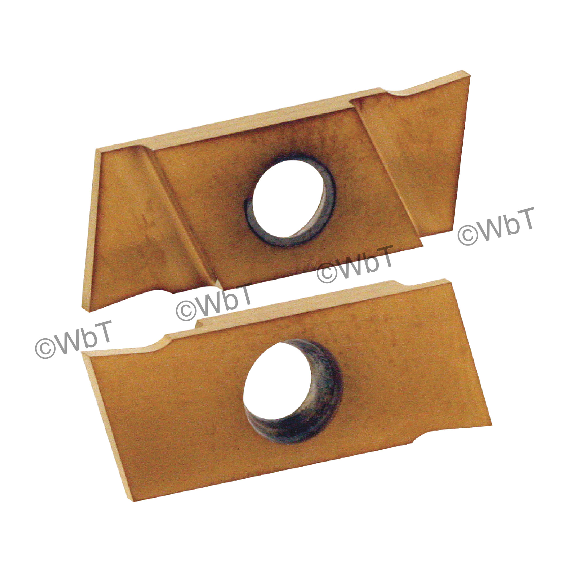 """NIKCOLE - GIE-7-GP-1.0RN C5-PV / Indexable Carbide Insert for Grooving & Parting / 0.039"""" Cutting Width / Right Hand"""