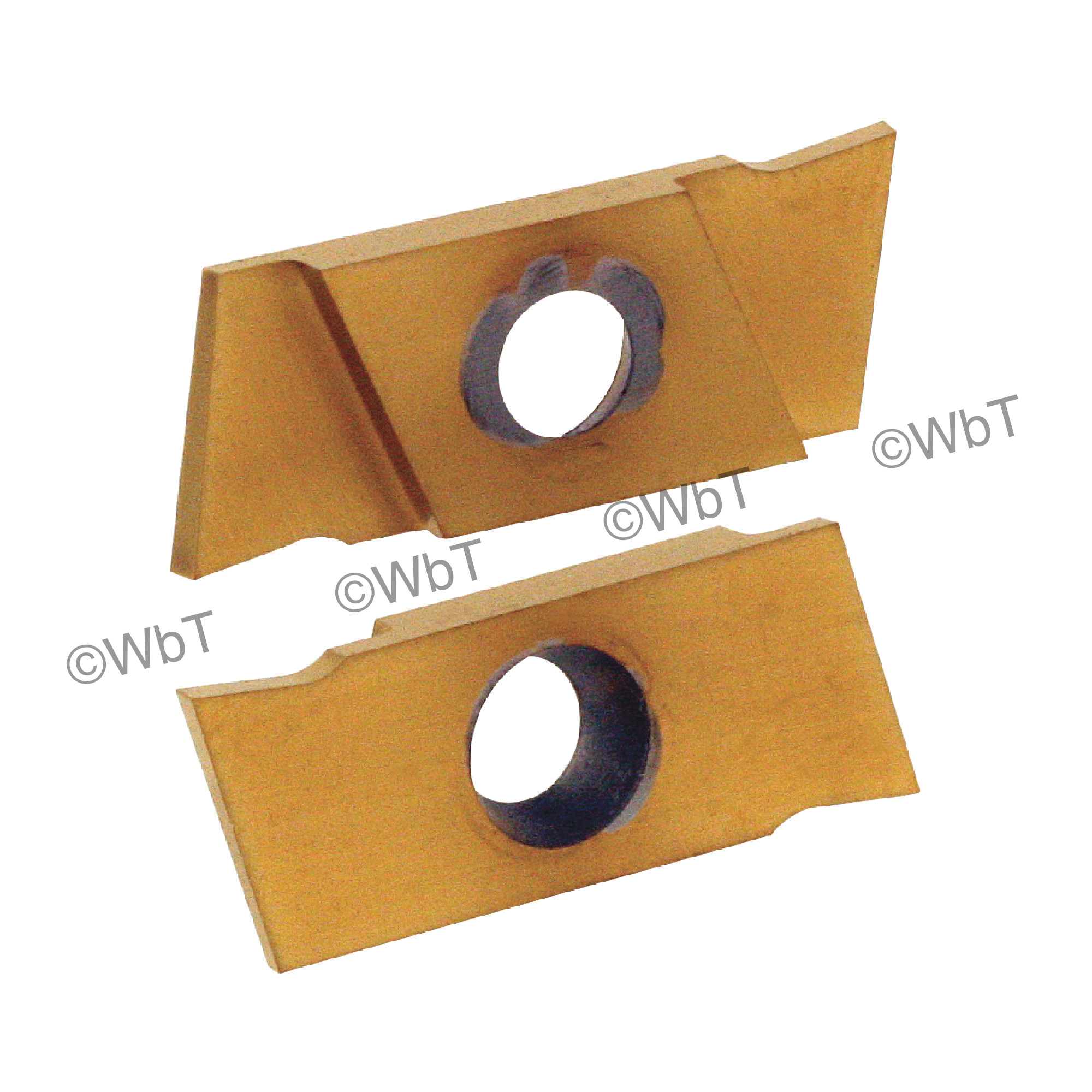 """NIKCOLE - GIE-7-GP-1.0RL C5-PV / Indexable Carbide Insert for Grooving & Parting / 0.039"""" Cutting Width / Right Hand"""