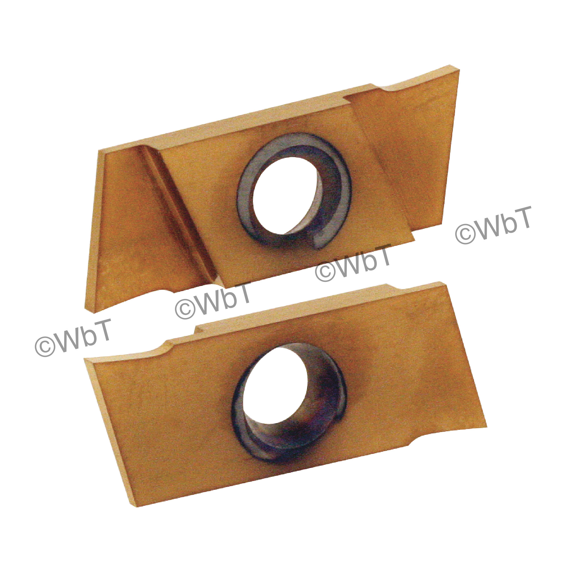"""NIKCOLE - GIE-7-GP-1.0RN C6-PV / Indexable Carbide Insert for Grooving & Parting / 0.039"""" Cutting Width / Right Hand"""