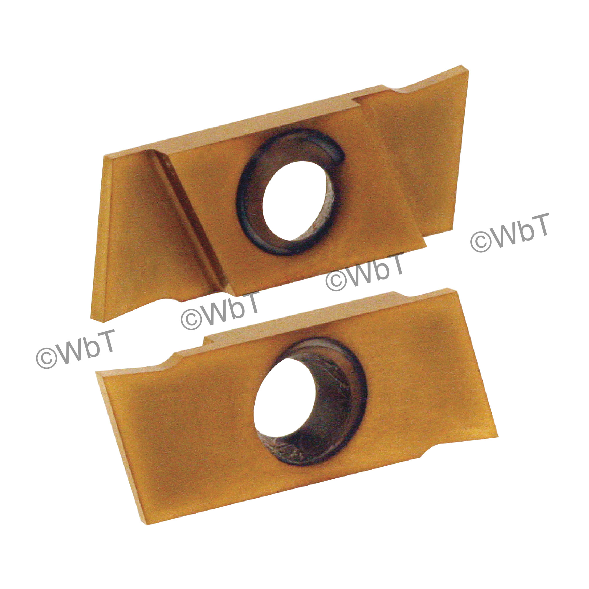 """NIKCOLE - GIE-7-GP-1.0RL C6-PV / Indexable Carbide Insert for Grooving & Parting / 0.039"""" Cutting Width / Right Hand"""