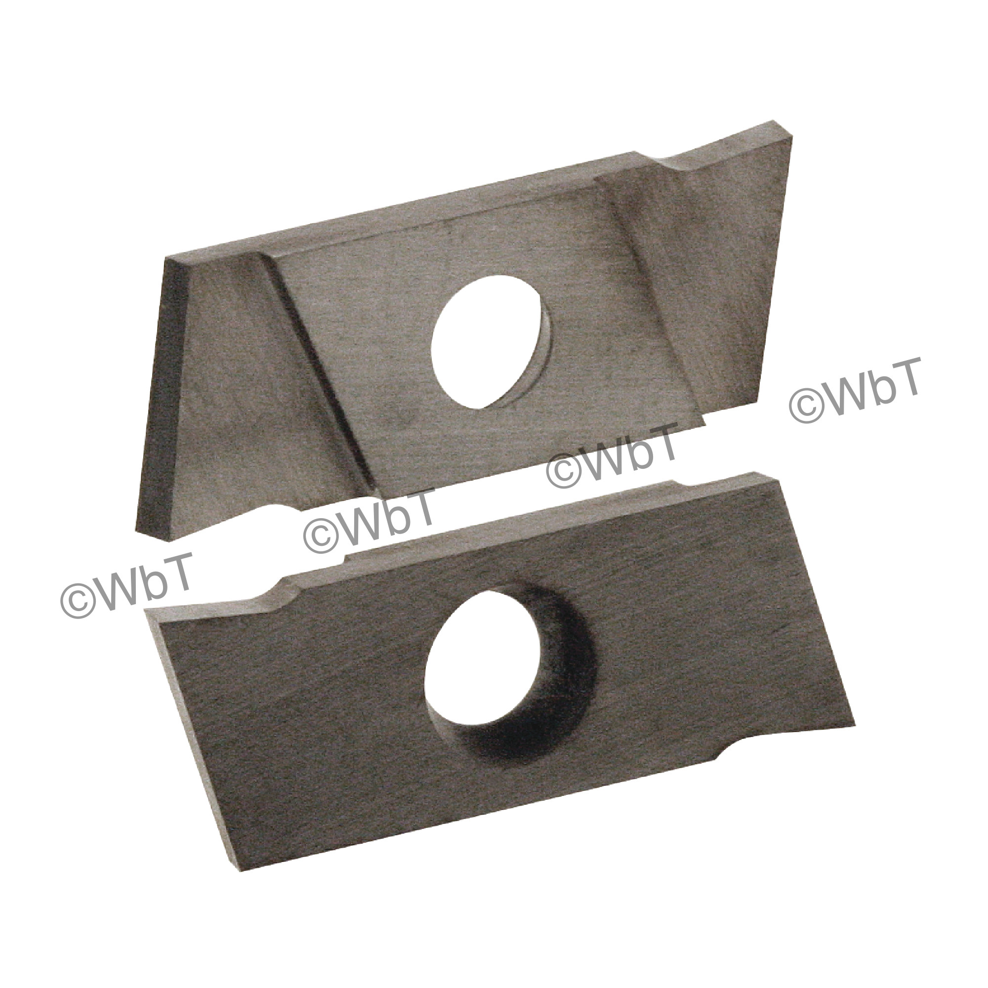 """NIKCOLE - GIE-7-GP-1.5LN C2 / Indexable Carbide Insert for Grooving / 0.059"""" Cutting Width / Left Hand"""