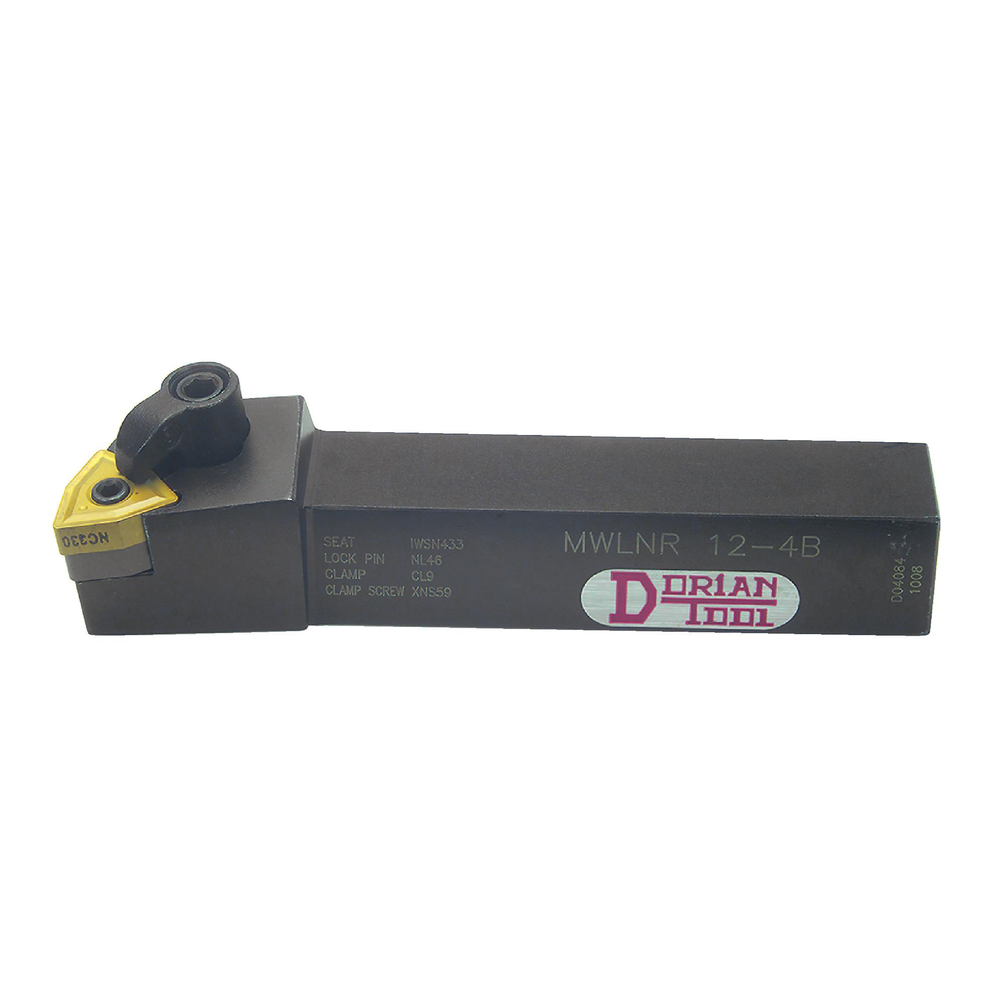 "DORIAN - MWLNR12-4B / 0.750"" External Turning Holder for WNMG43_ Inserts / Right Hand"