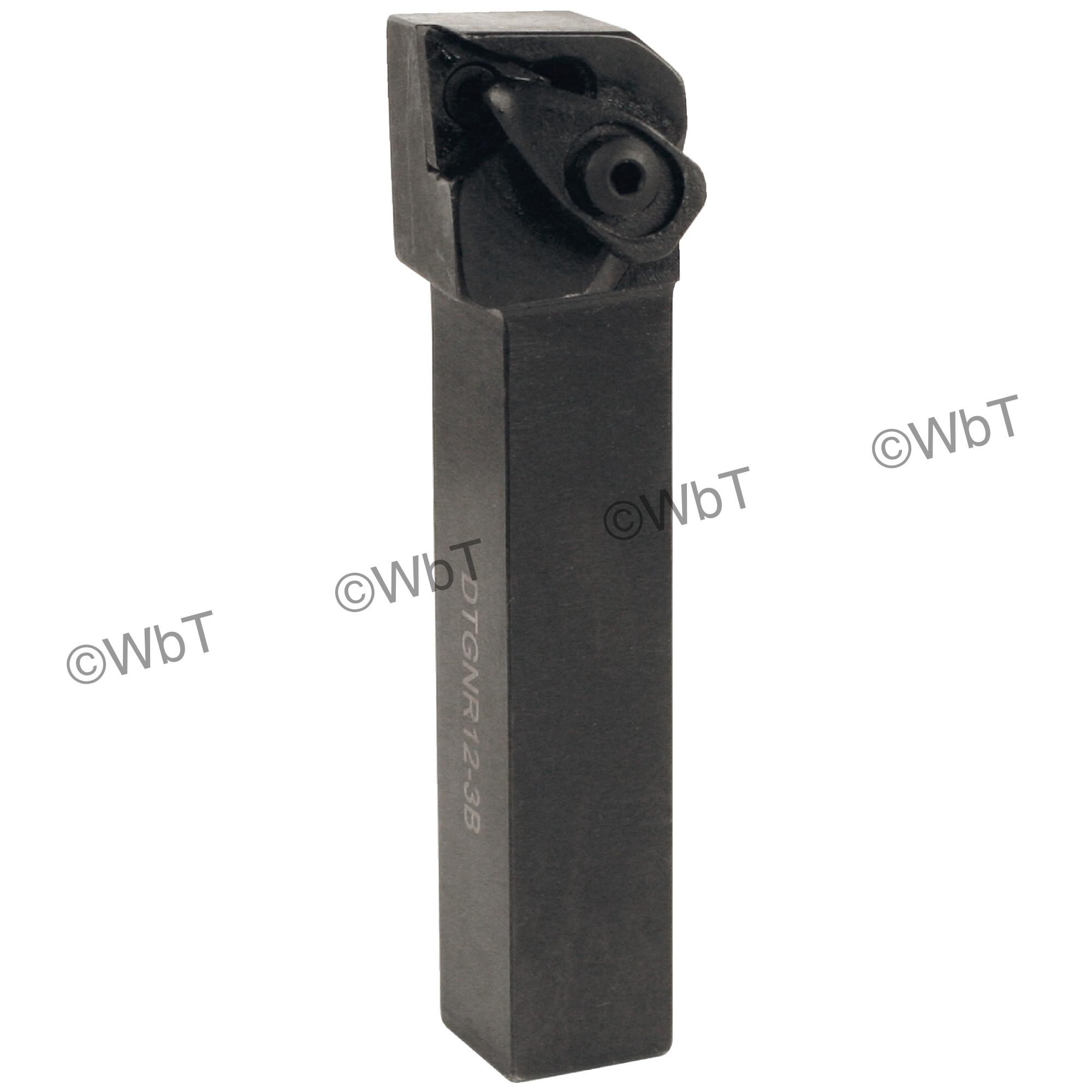"TTC PRODUCTION - DTGNR12-3B / 0.750"" External Tool Holder for TNMG33_ Inserts / Right Hand"