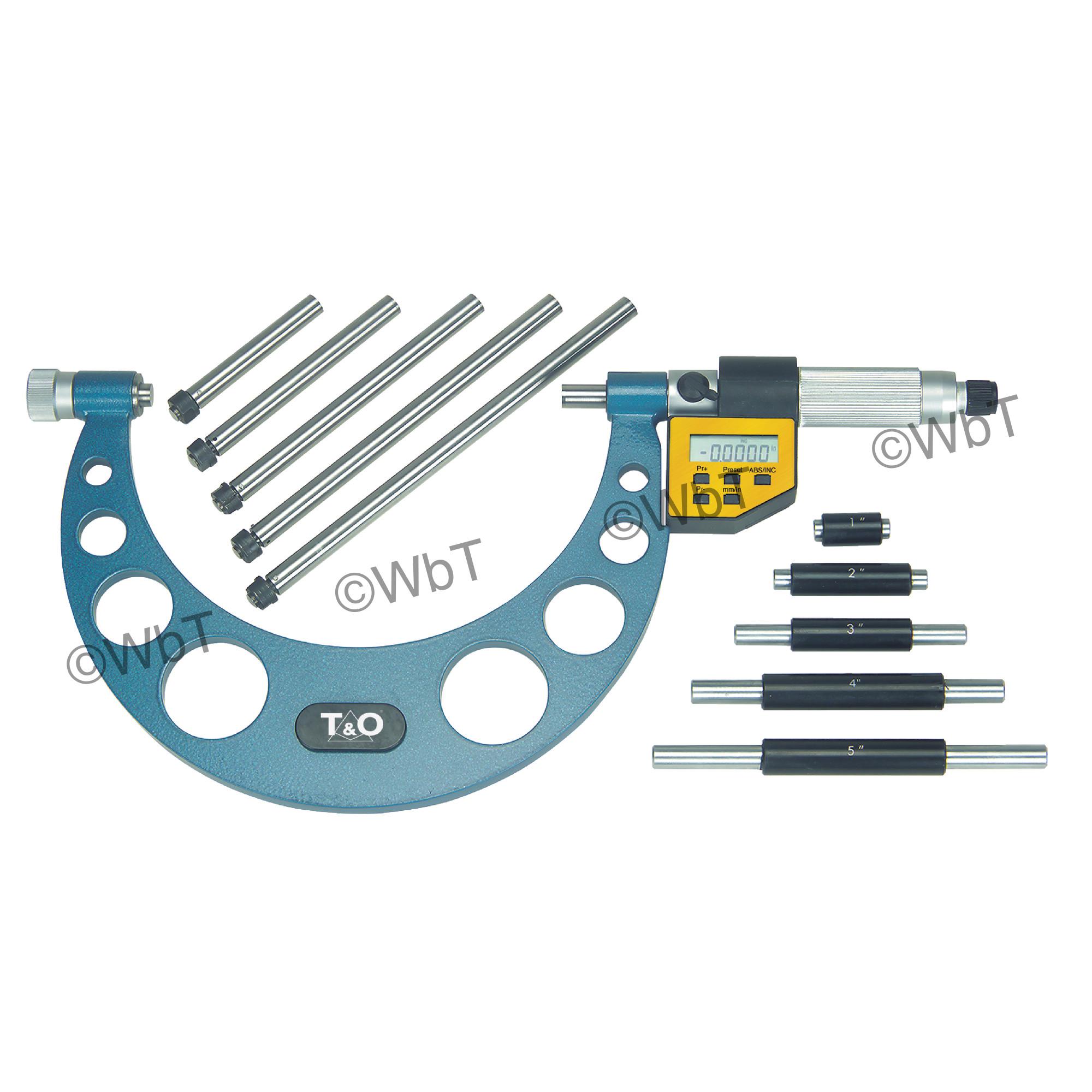 Digital Interchangeable Anvil Micrometer Set