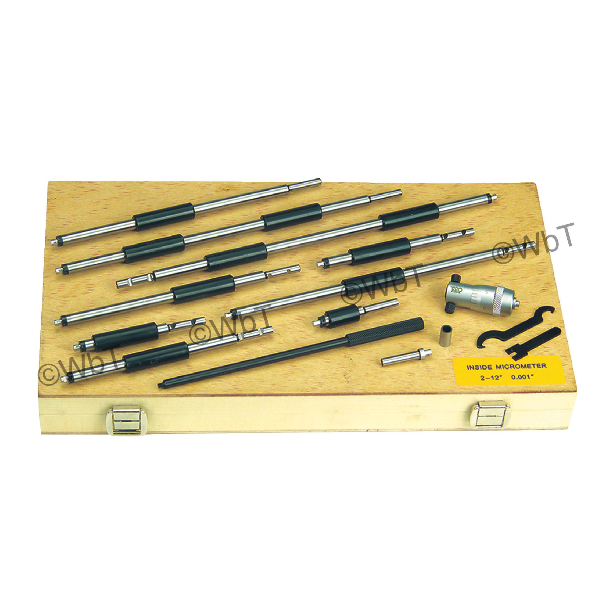 "2 ~ 12"" Rod Type Inside Micrometer Set"