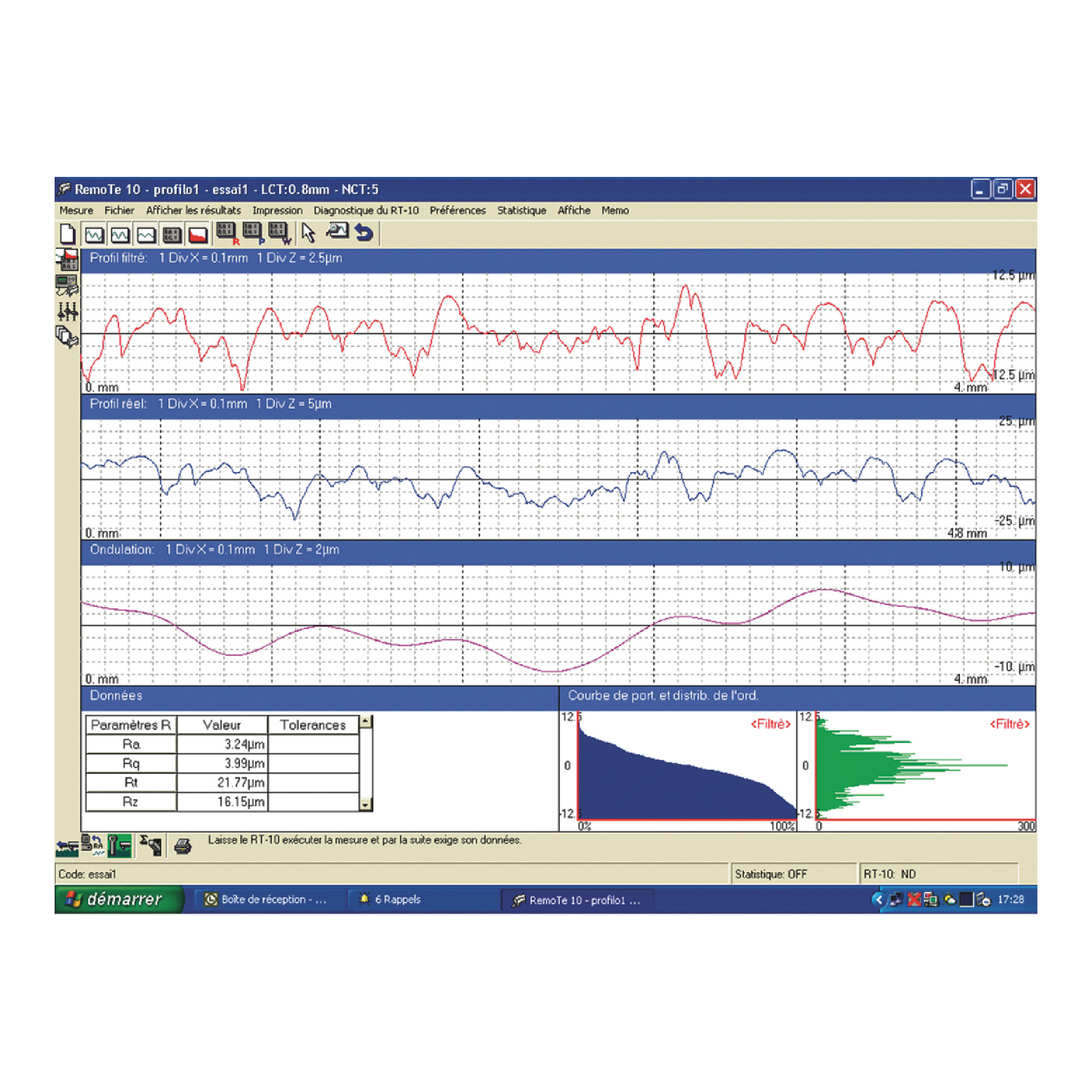 Software for Portable Surface Roughness Tester