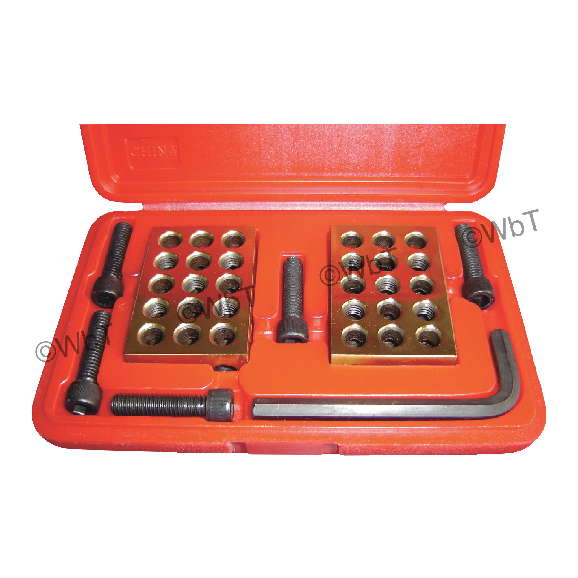 Tin Coated 1-2-3 Block Set with Bolts