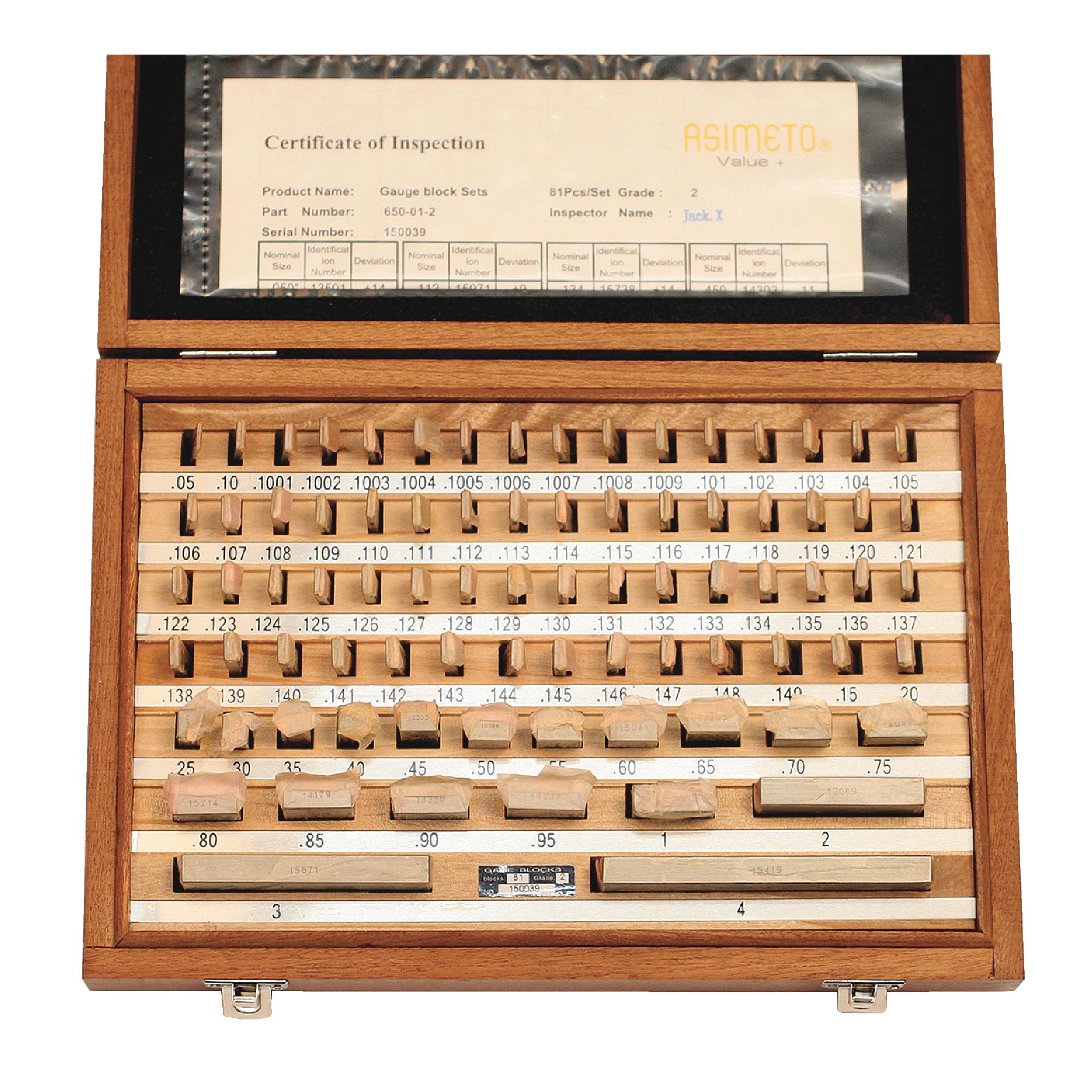 81 Piece Rectangular Gage Block Set