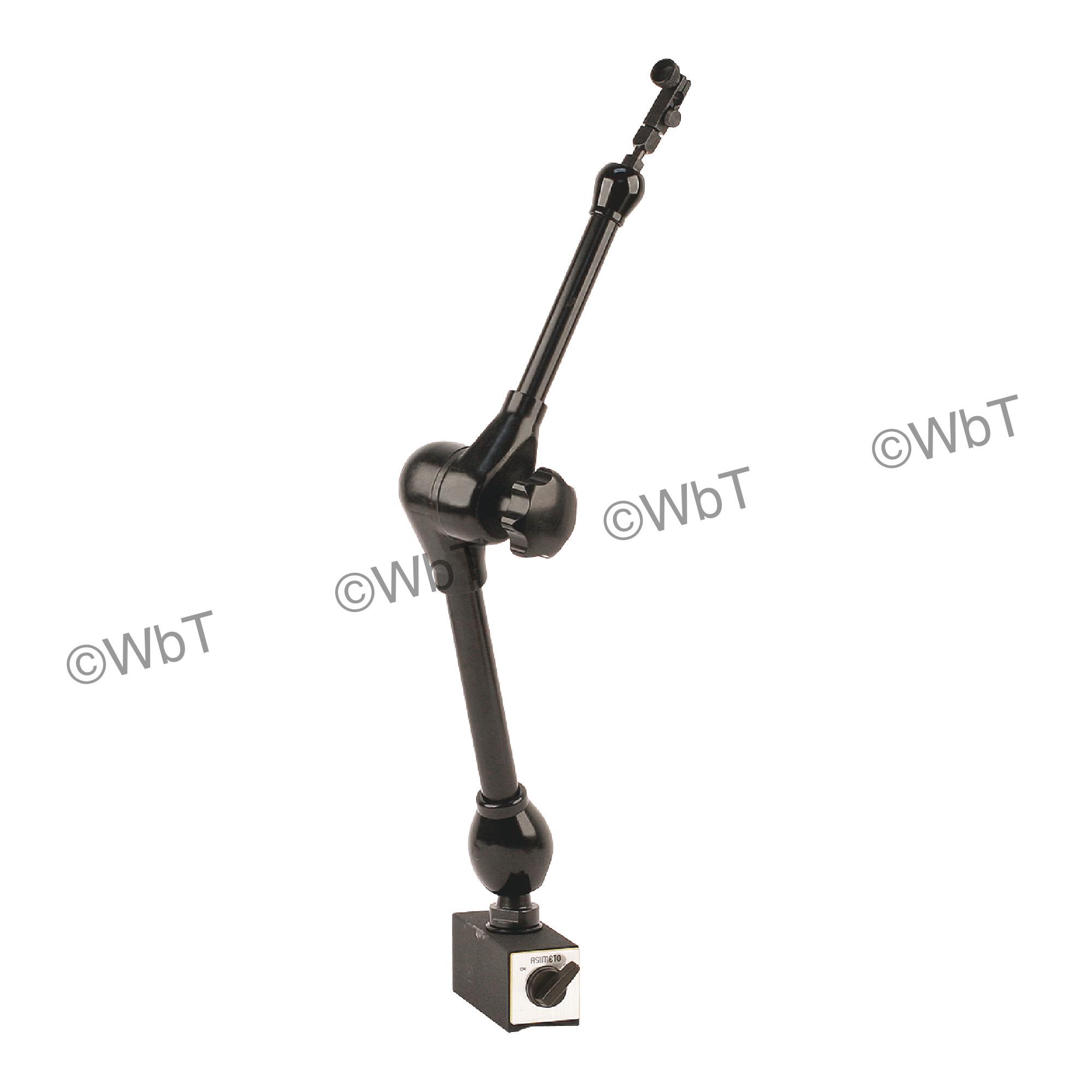 ASIMETO Articulating Arm Magnetic Base & Indicator Holder