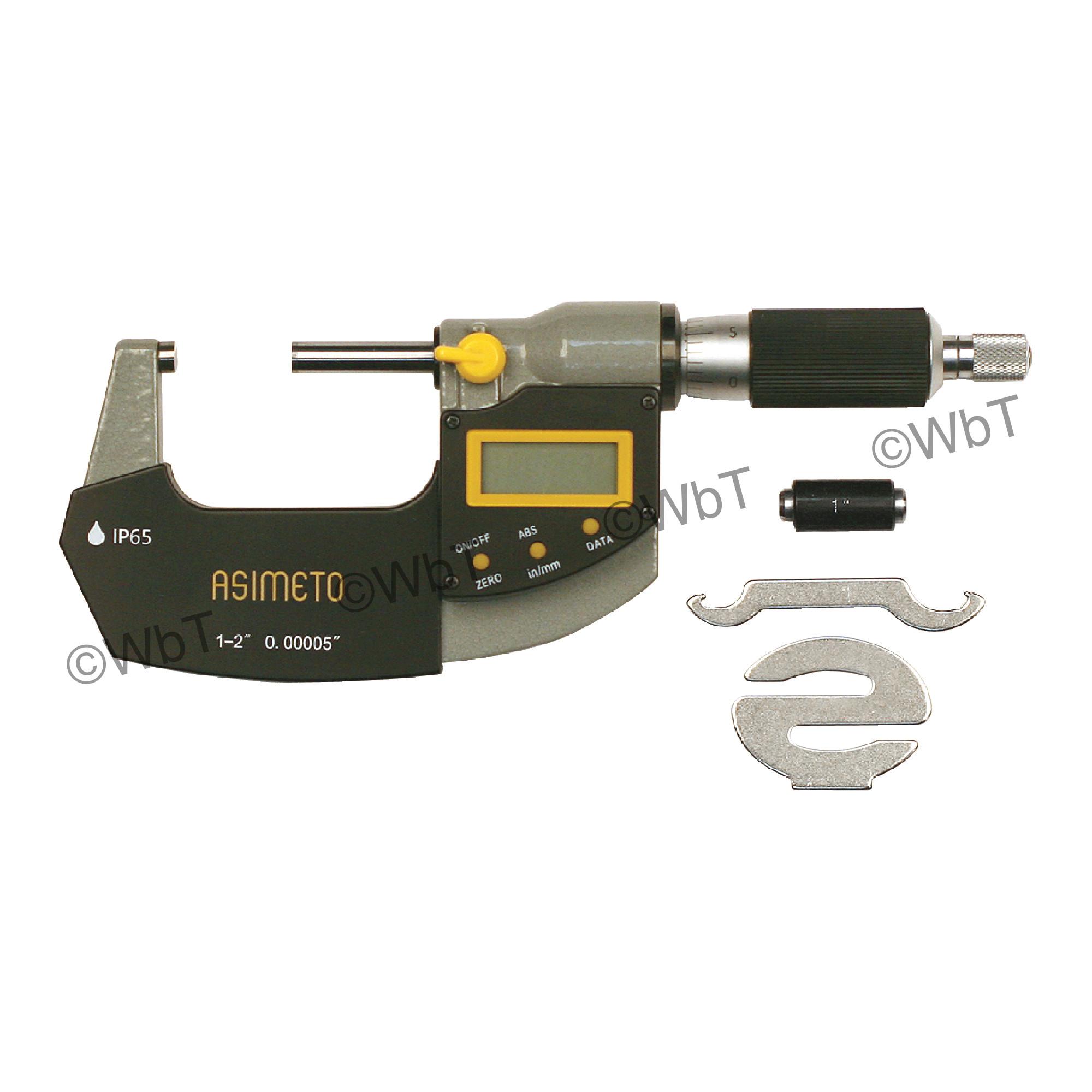 """1-2"""" IP65 Digital Outside Micrometer"""