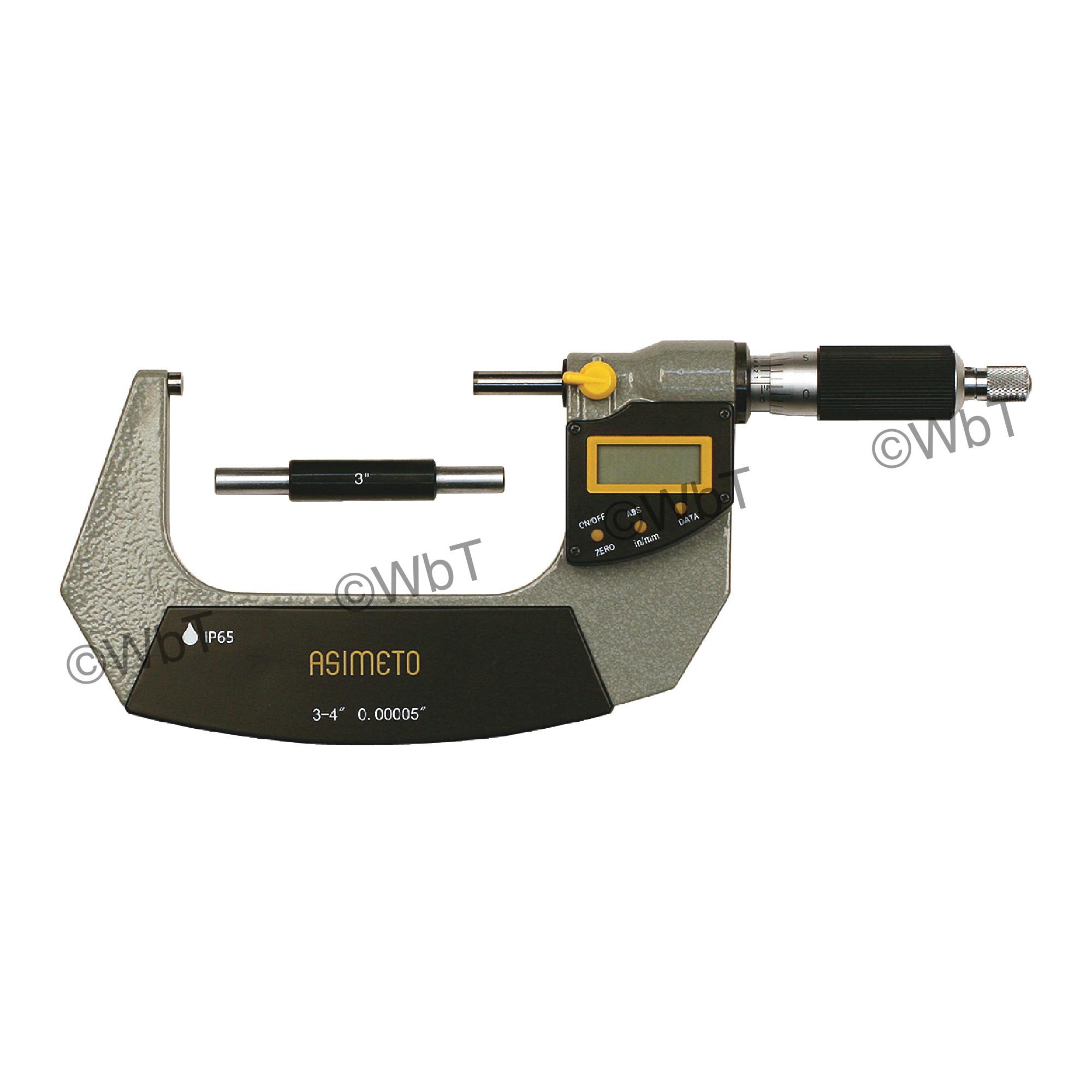 """3-4"""" IP65 Digital Outside Micrometer"""