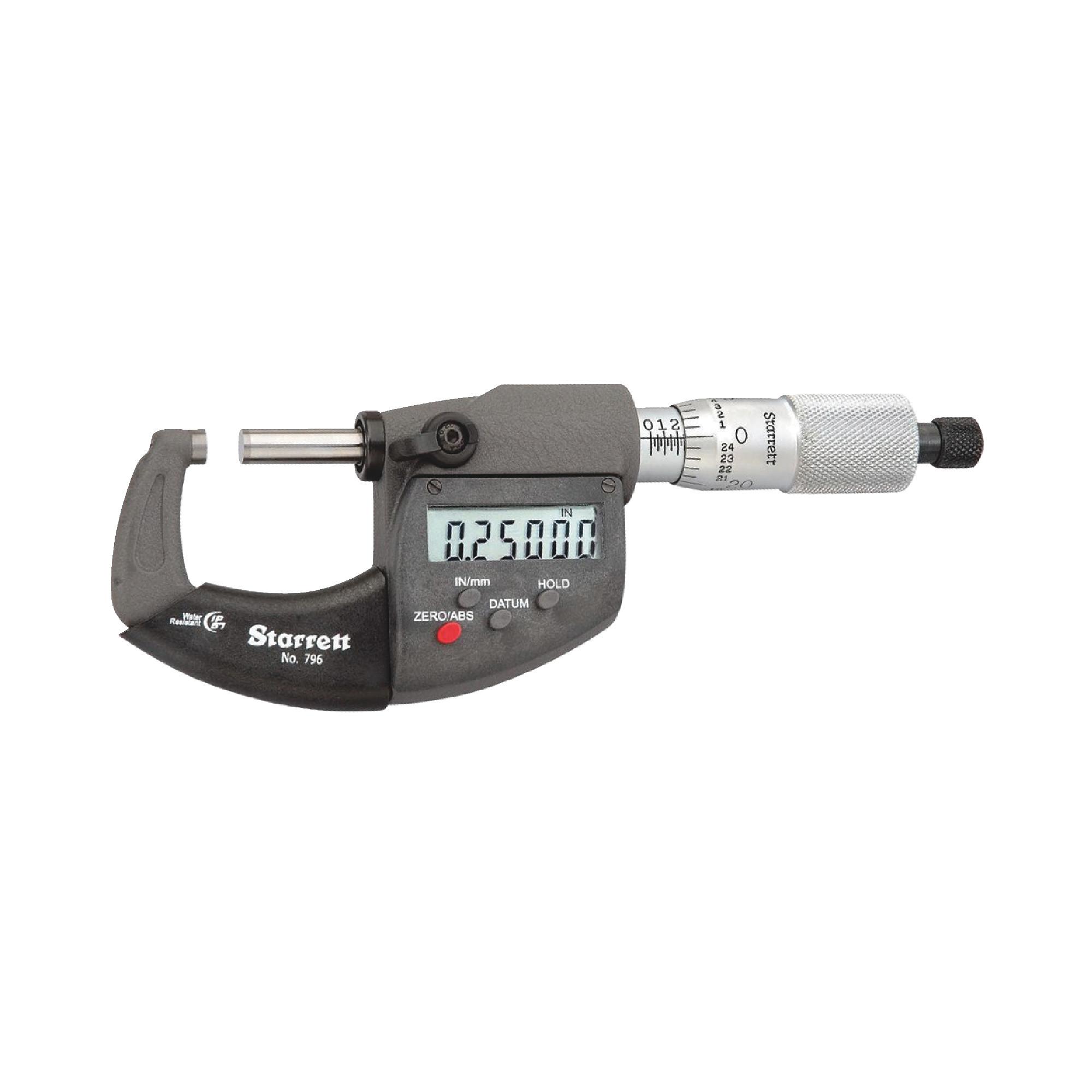 "0-1"" IP67 Ratchet Stop Electronic Micrometer"