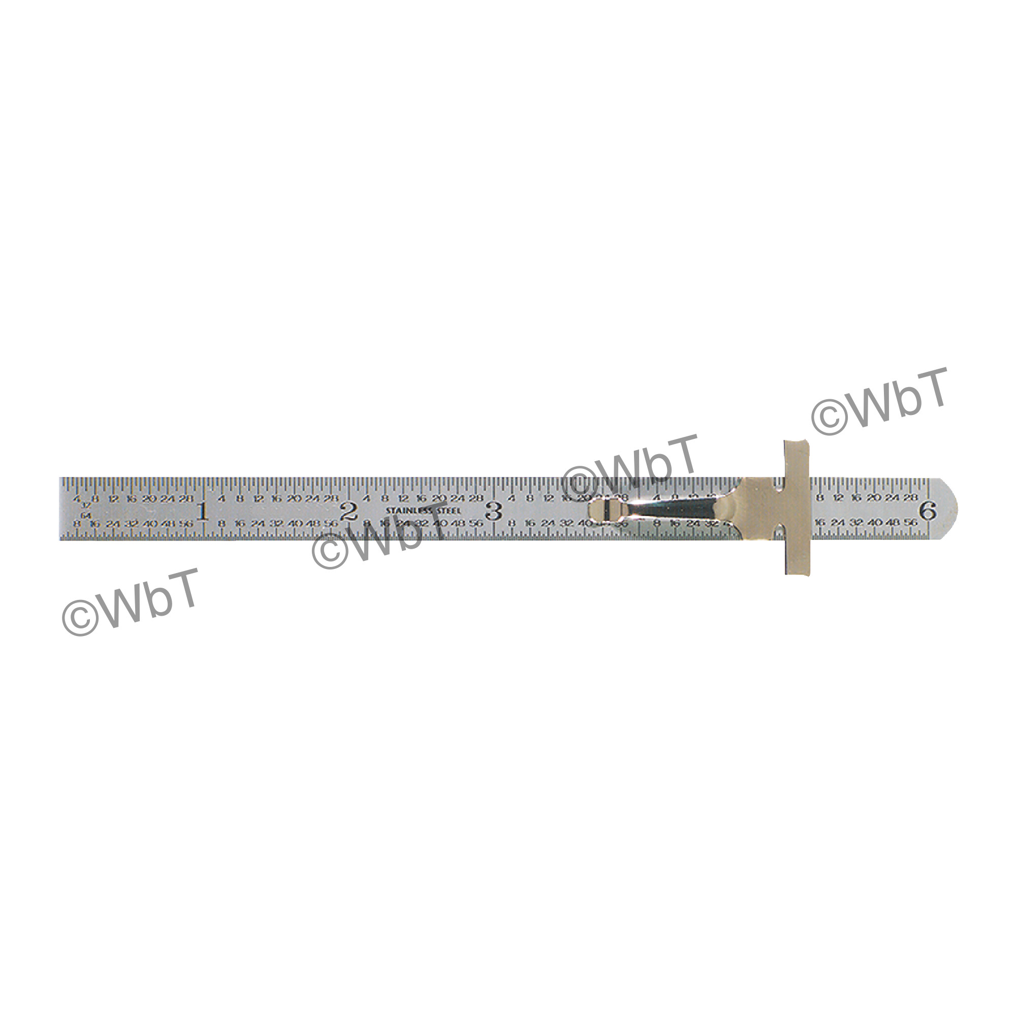"""6"""" Flexible Round End Rule With Clip"""