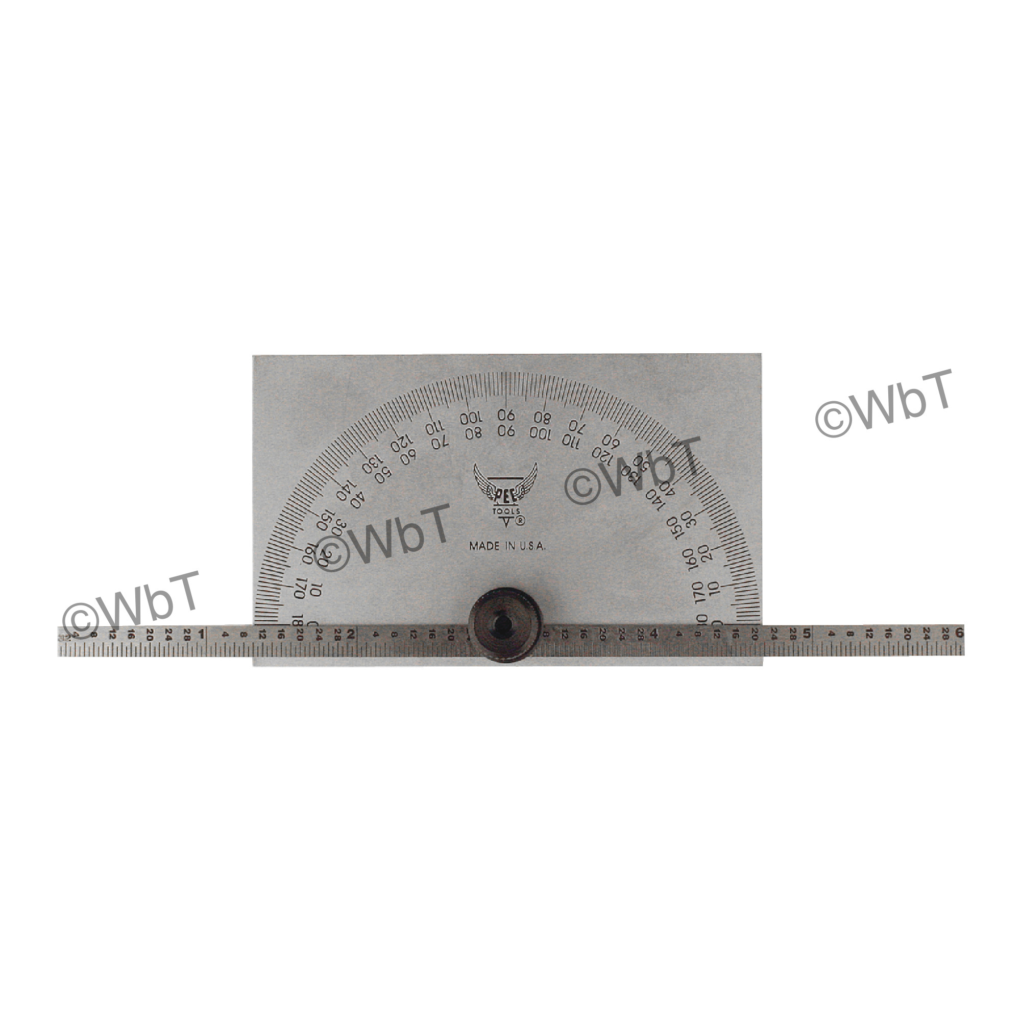Rectangular Head Protractor with Graduated Rule