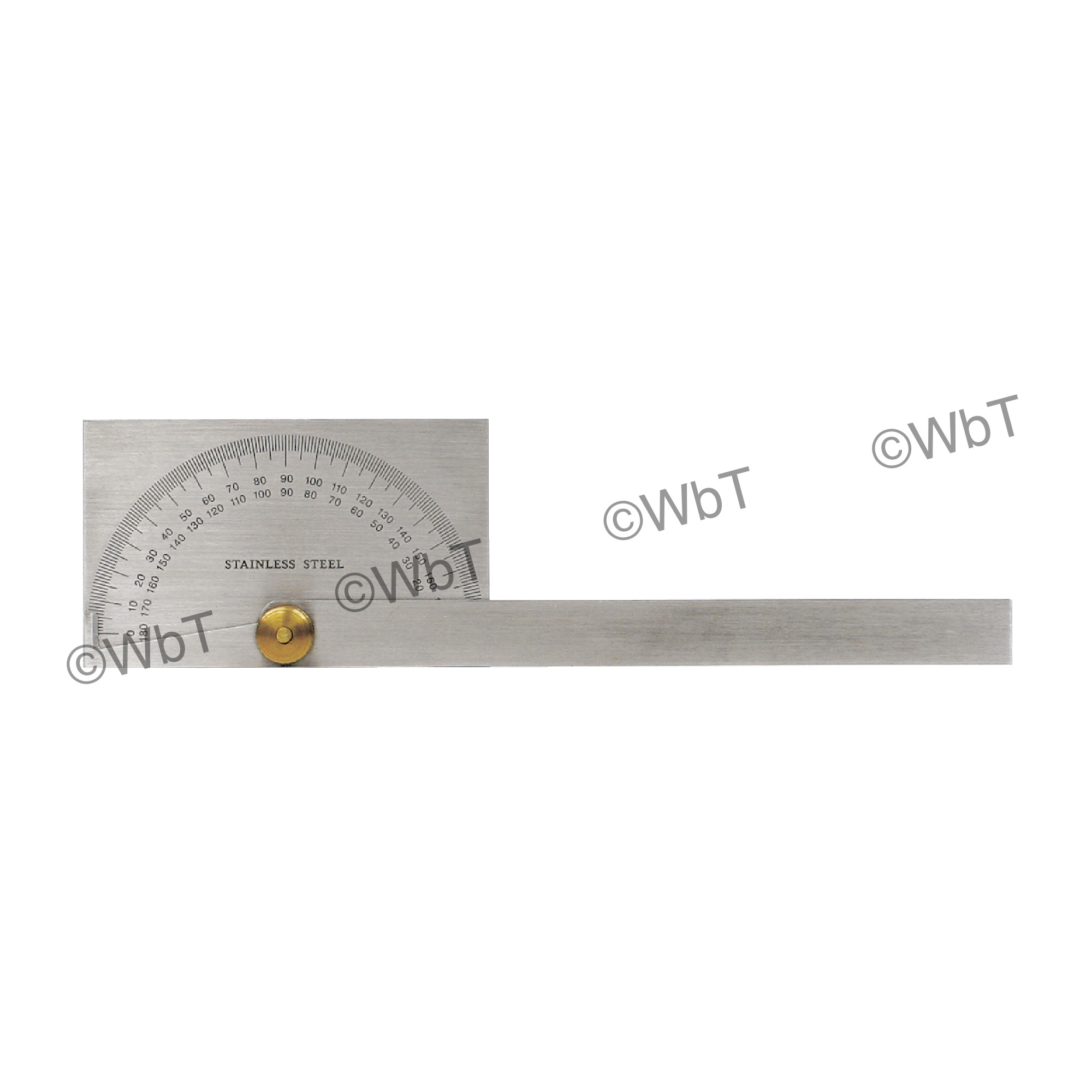 Rectangular Head Stainless Steel Protractor