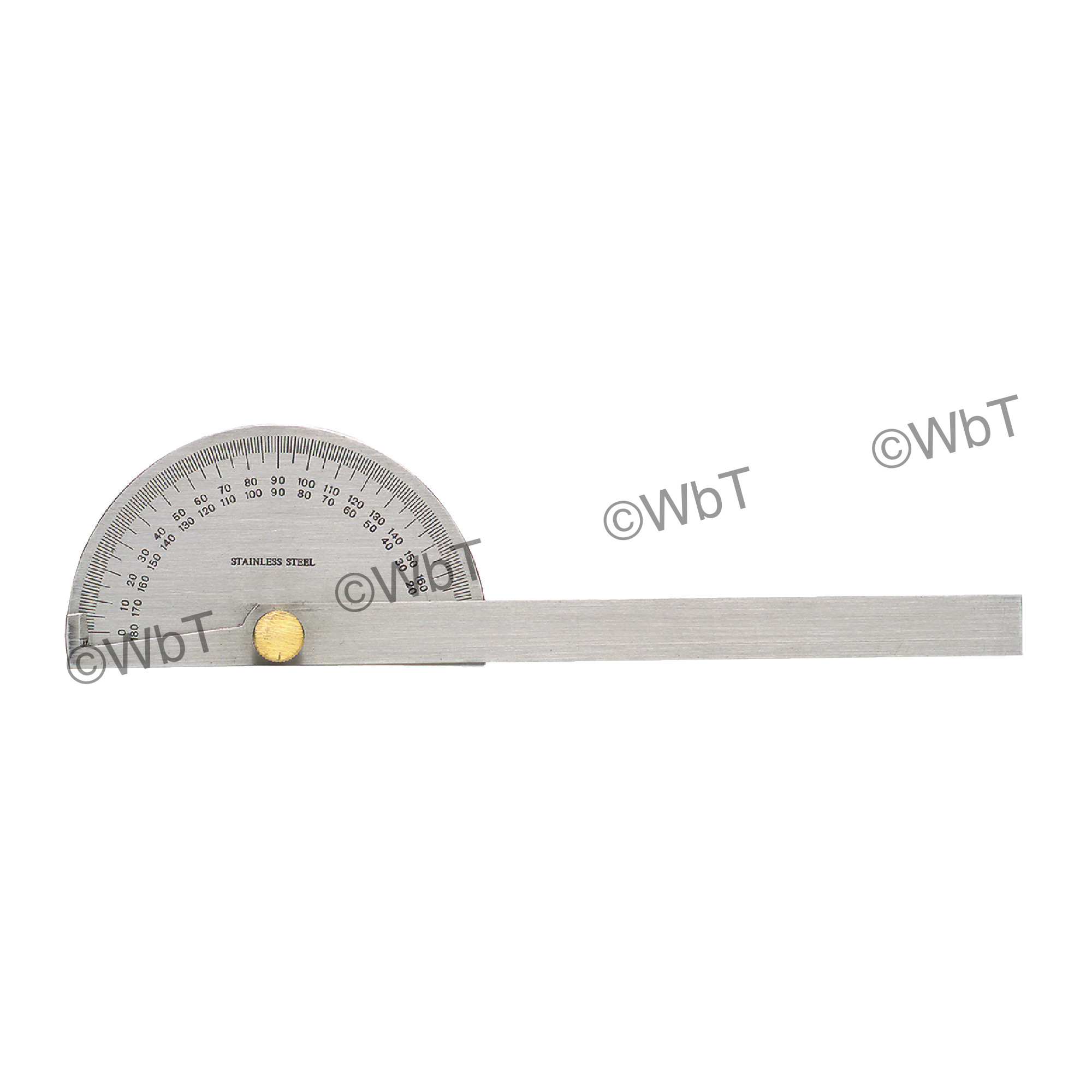 Round Head Stainless Steel Protractor