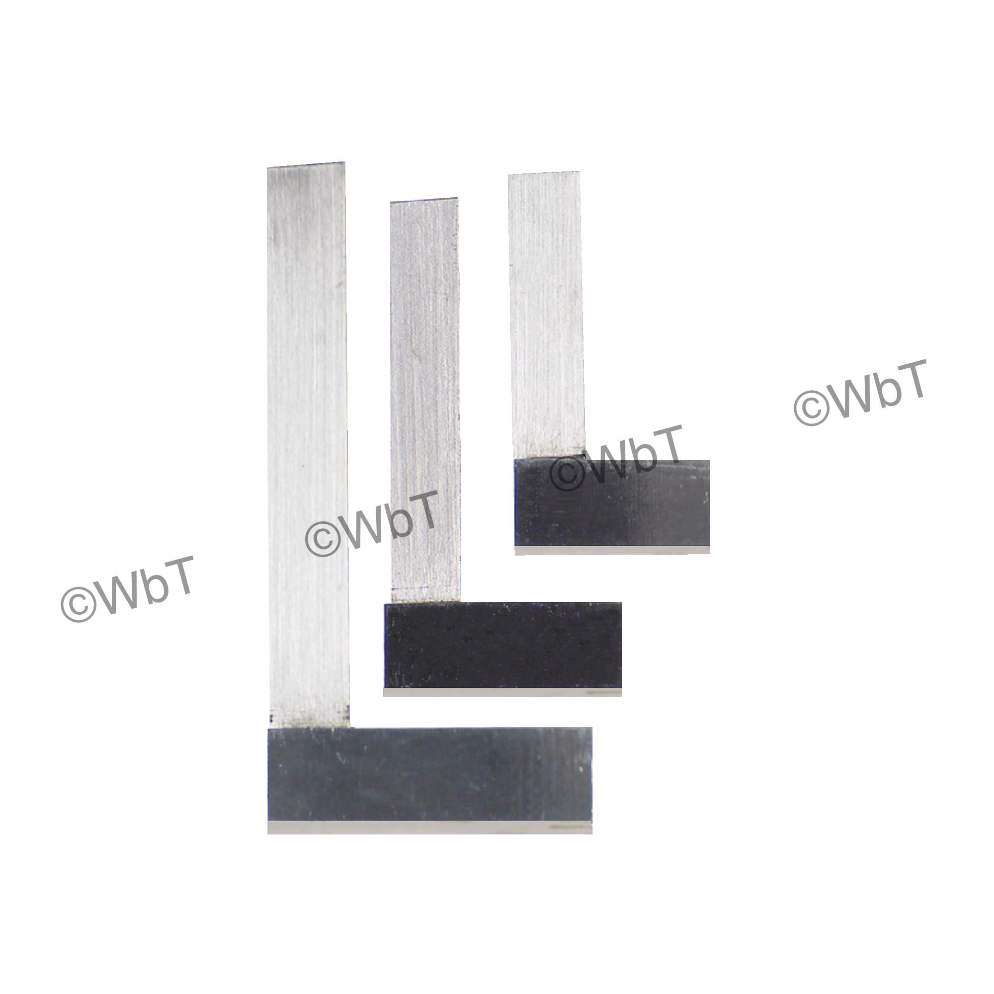 Standard Machinists' Steel Square Set